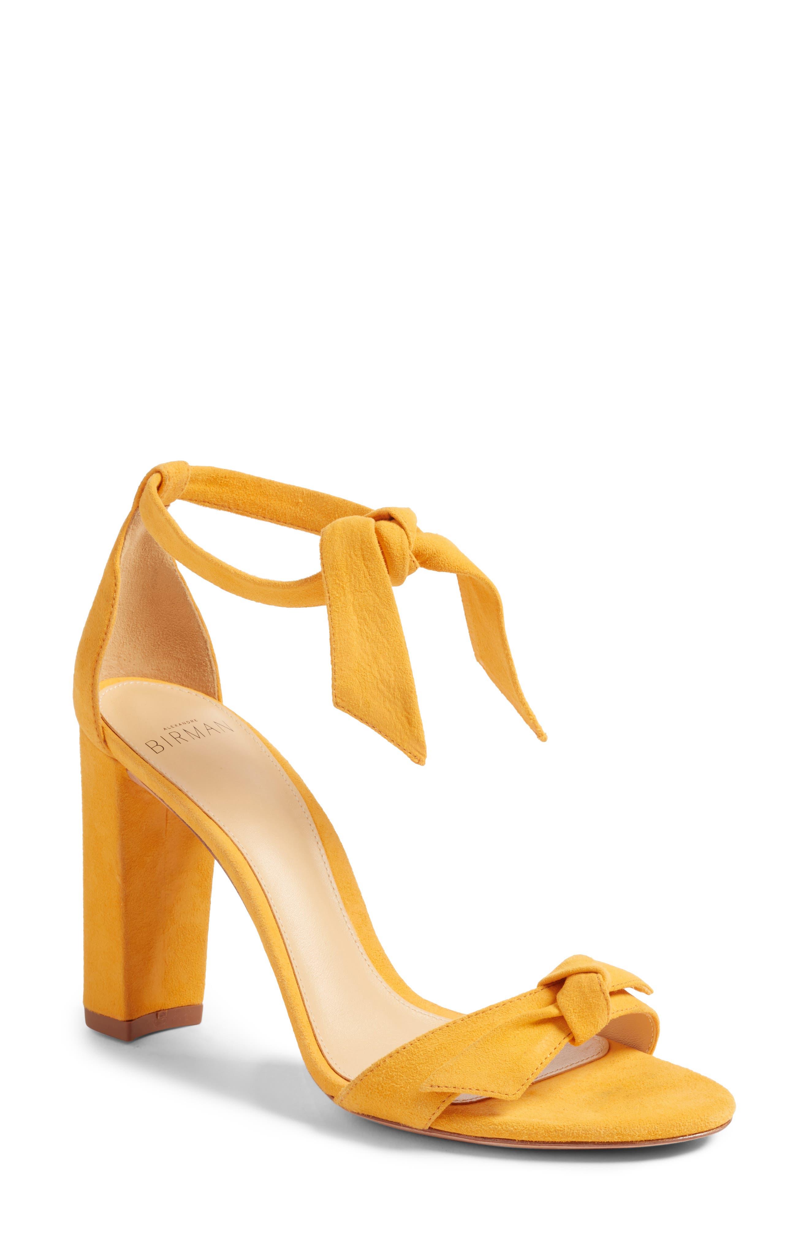 ALEXANDRE BIRMAN Clarita Knot Sandal, Main, color, SUNFLOWER