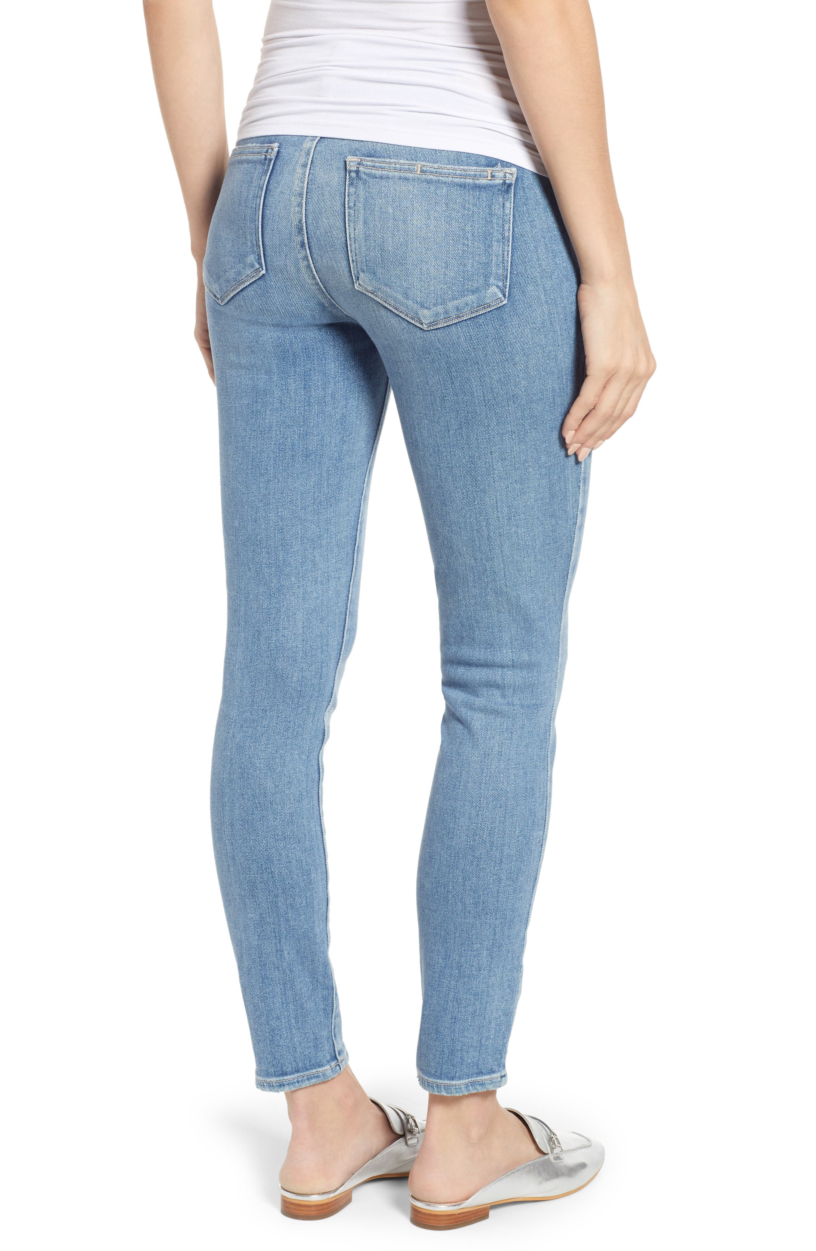 Verdugo Distressed Ankle Skinny Maternity Jeans,                             Alternate thumbnail 2, color,                             KAYSAN DISTRESSED
