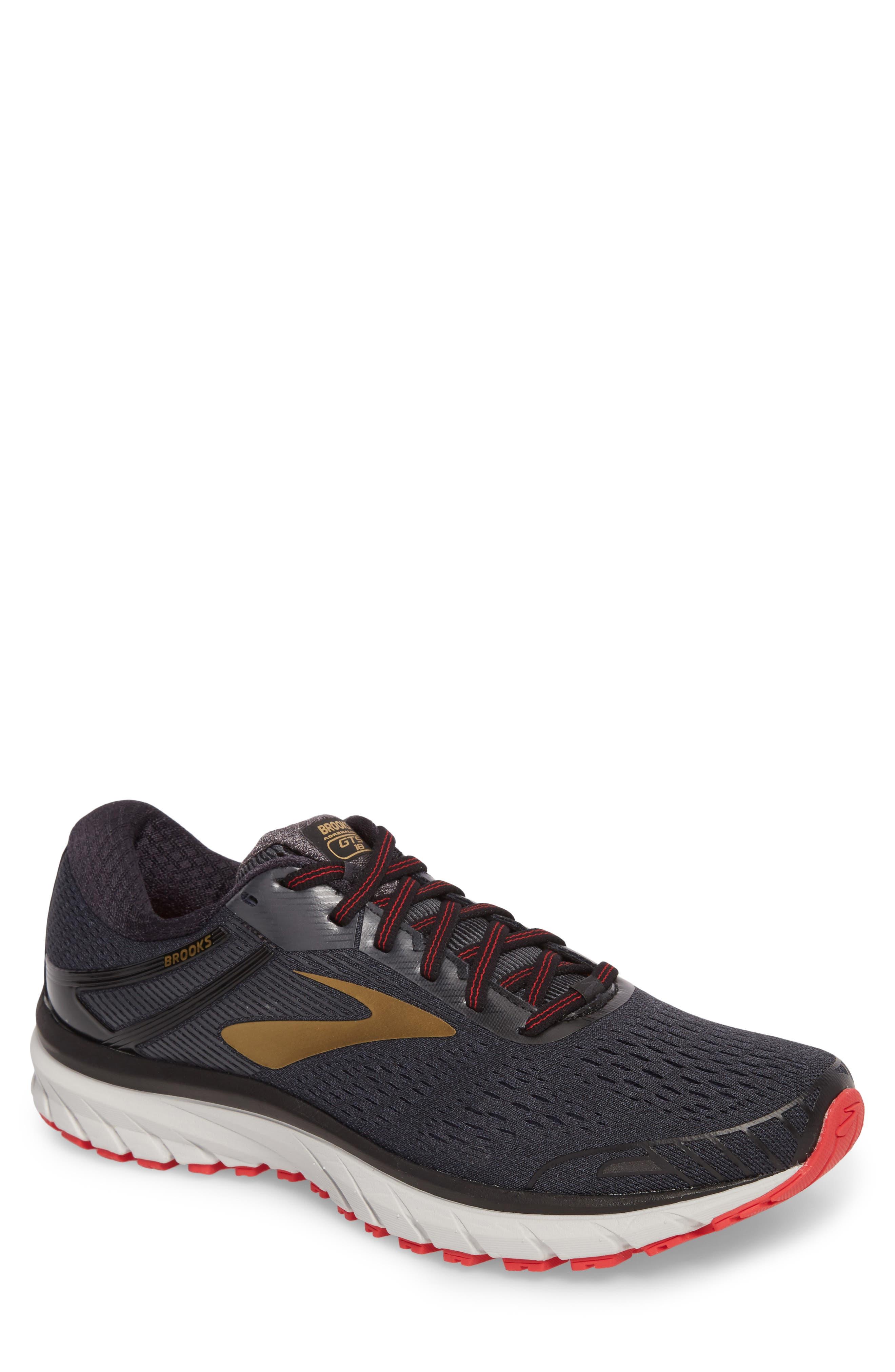 Adrenaline GTS 18 Running Shoe,                             Main thumbnail 1, color,                             BLACK/ GOLD/ RED