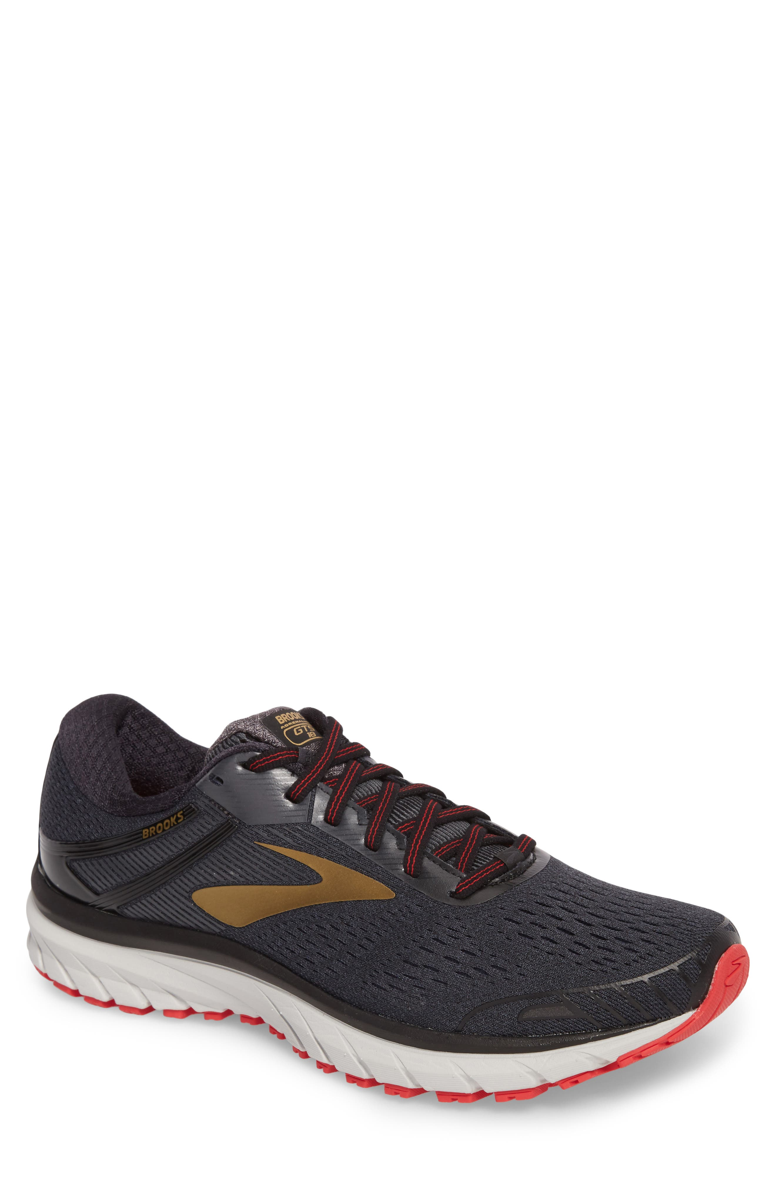 Adrenaline GTS 18 Running Shoe,                         Main,                         color, BLACK/ GOLD/ RED