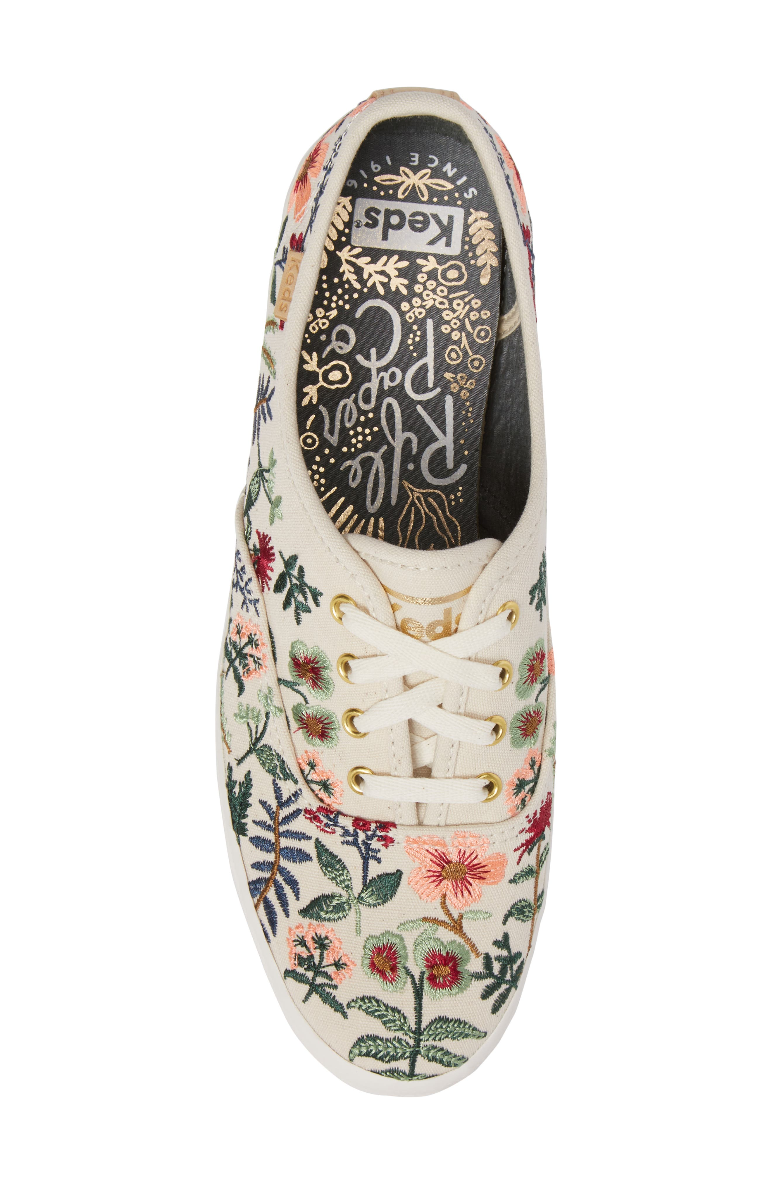x Rifle Paper Co. Herb Garden Embroidered Sneaker,                             Alternate thumbnail 5, color,                             101