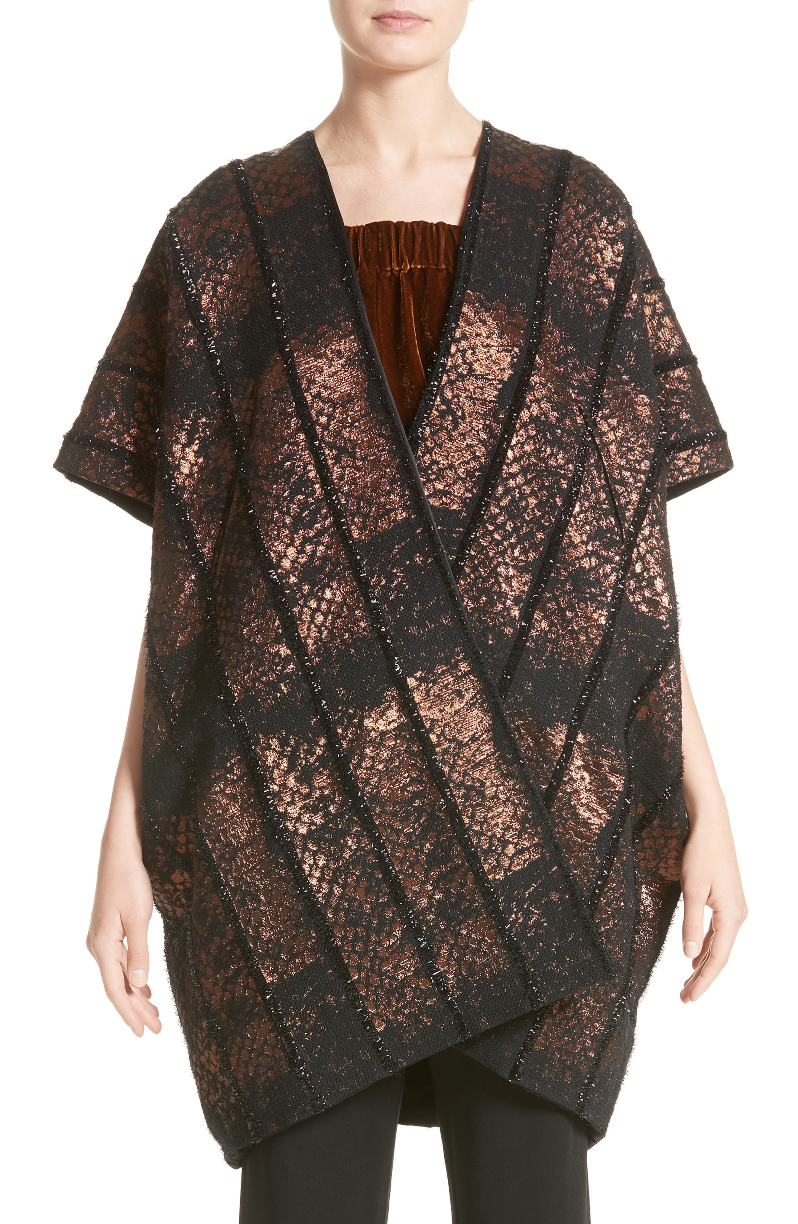 Gaban Reversible Jacquard Coat,                         Main,                         color, 200