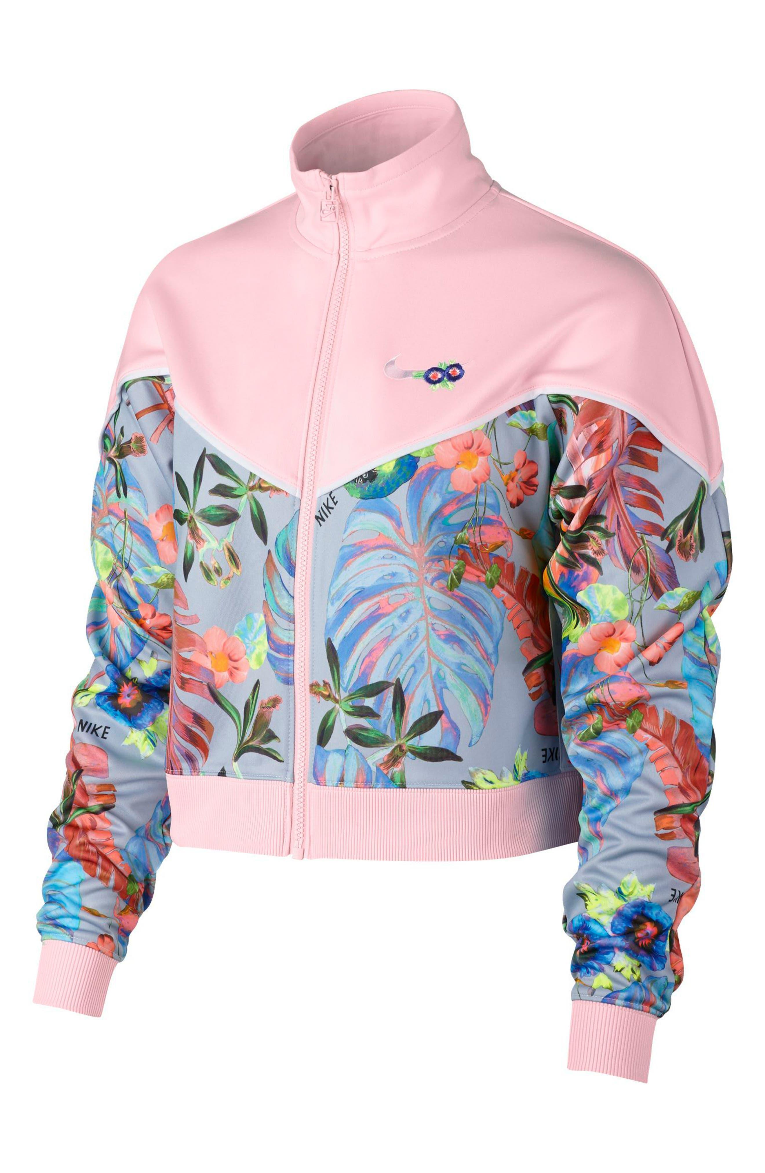 Hyper Femme Crop Jacket,                             Main thumbnail 1, color,                             ARCTIC PINK/ PURE PLATINUM