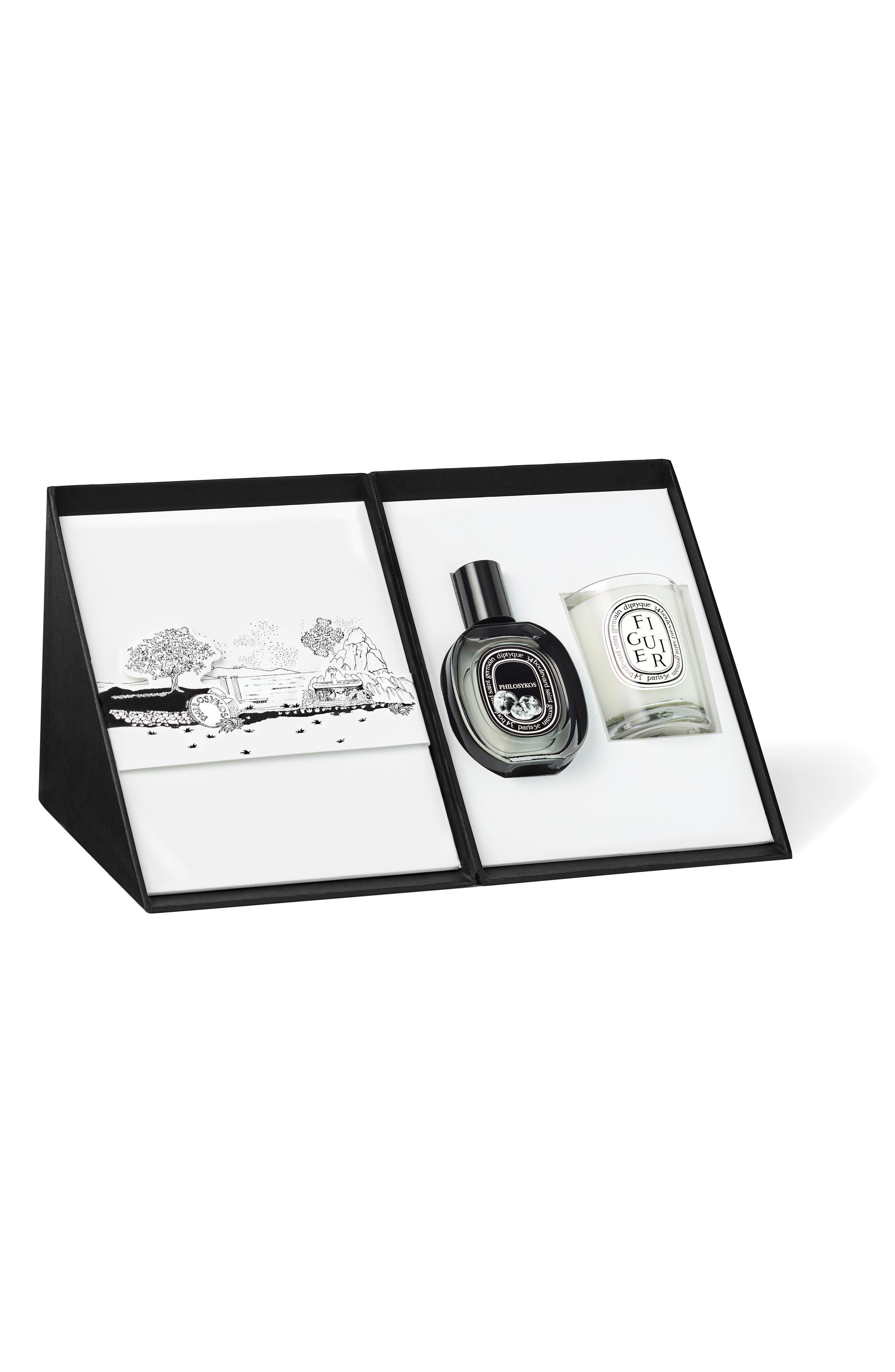 Philosykos Eau de Parfum & Figuier Candle Duo,                             Main thumbnail 1, color,                             000