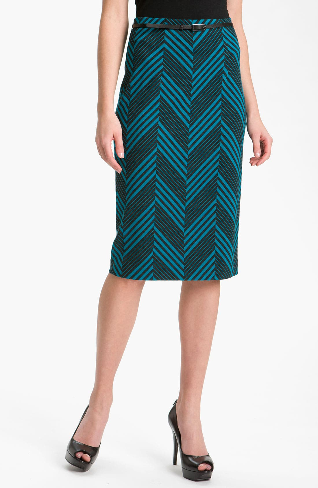 Belted Ponte Skirt,                             Main thumbnail 11, color,