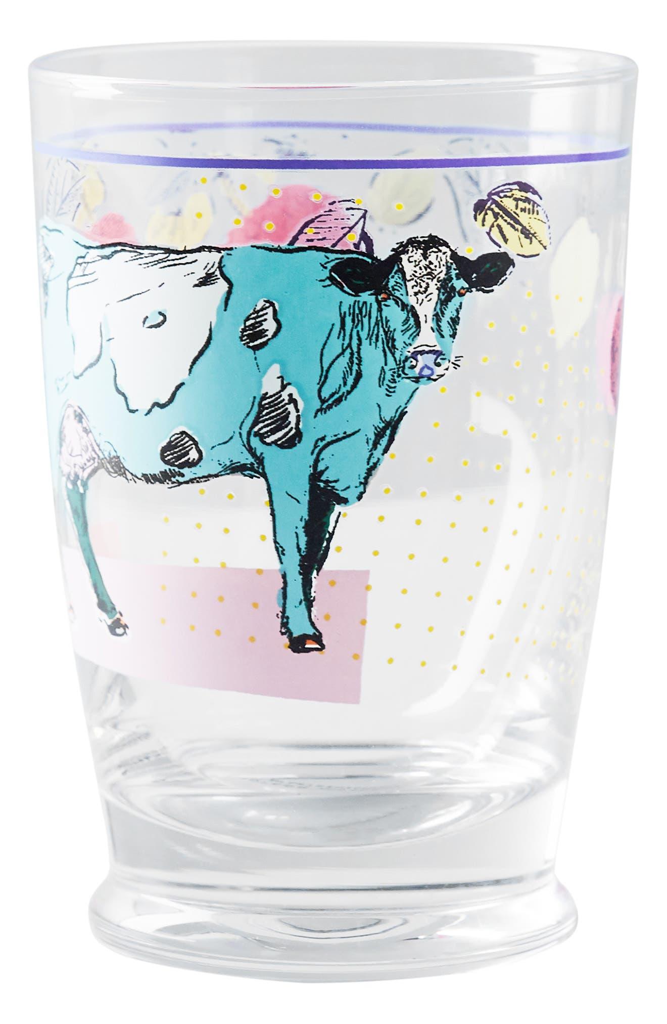 Lorena Marañon Juice Glass,                             Alternate thumbnail 4, color,                             COW