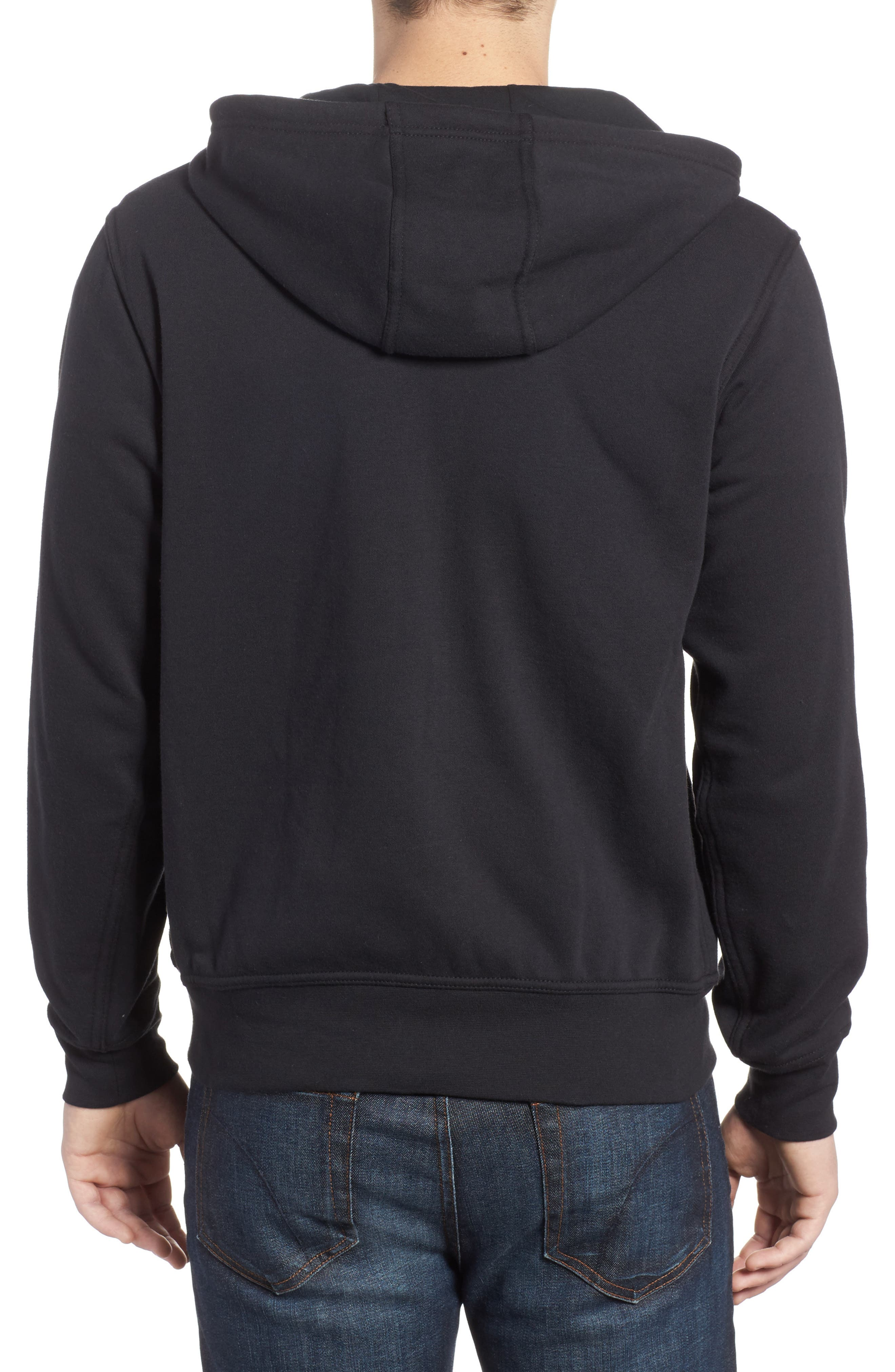 Half Dome Cotton Blend Zip Hoodie,                             Alternate thumbnail 2, color,                             001
