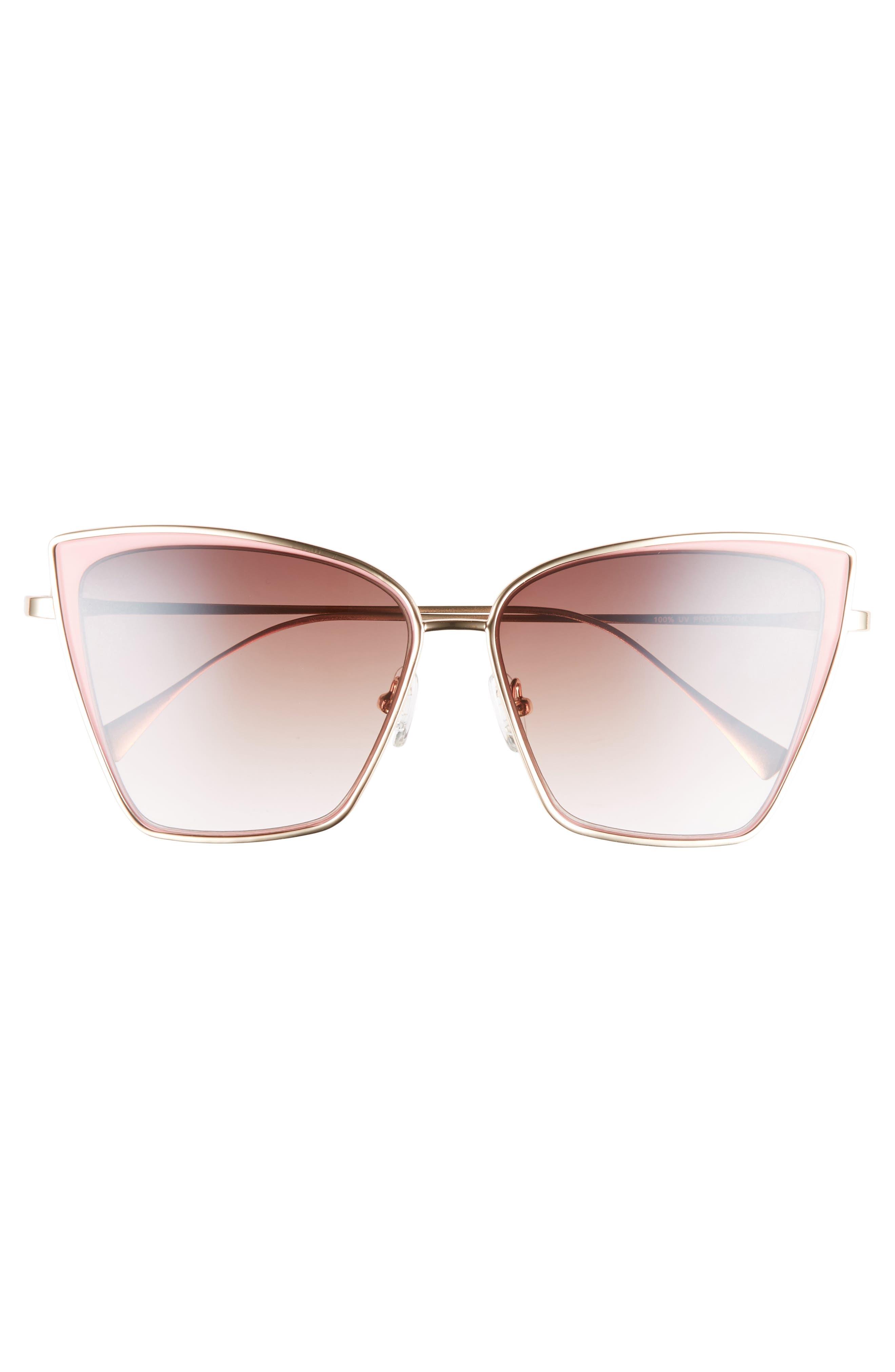 Pinkaboo 58mm Sunglasses,                             Alternate thumbnail 3, color,                             650