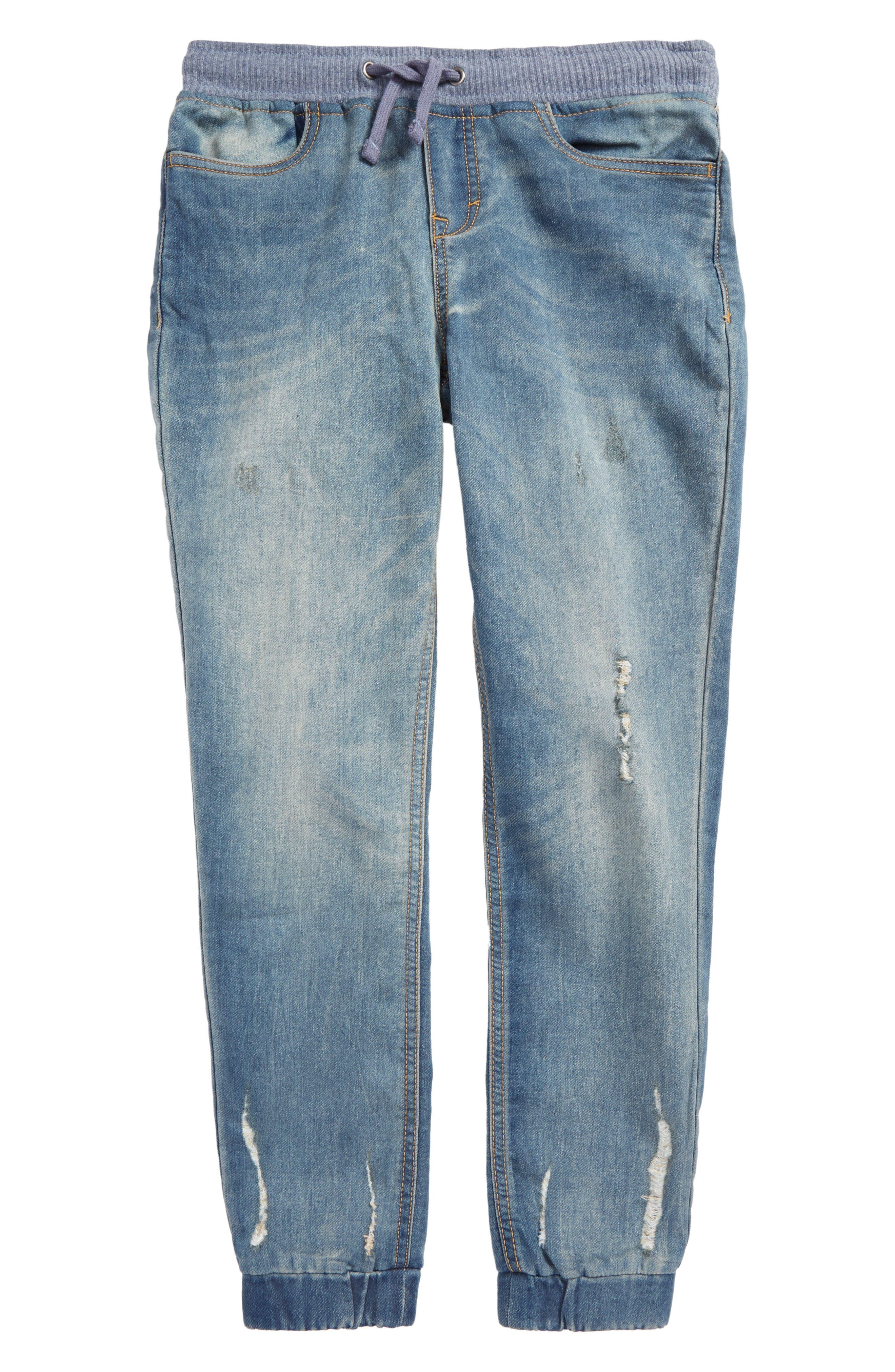 Denim Jogger Pants,                         Main,                         color,