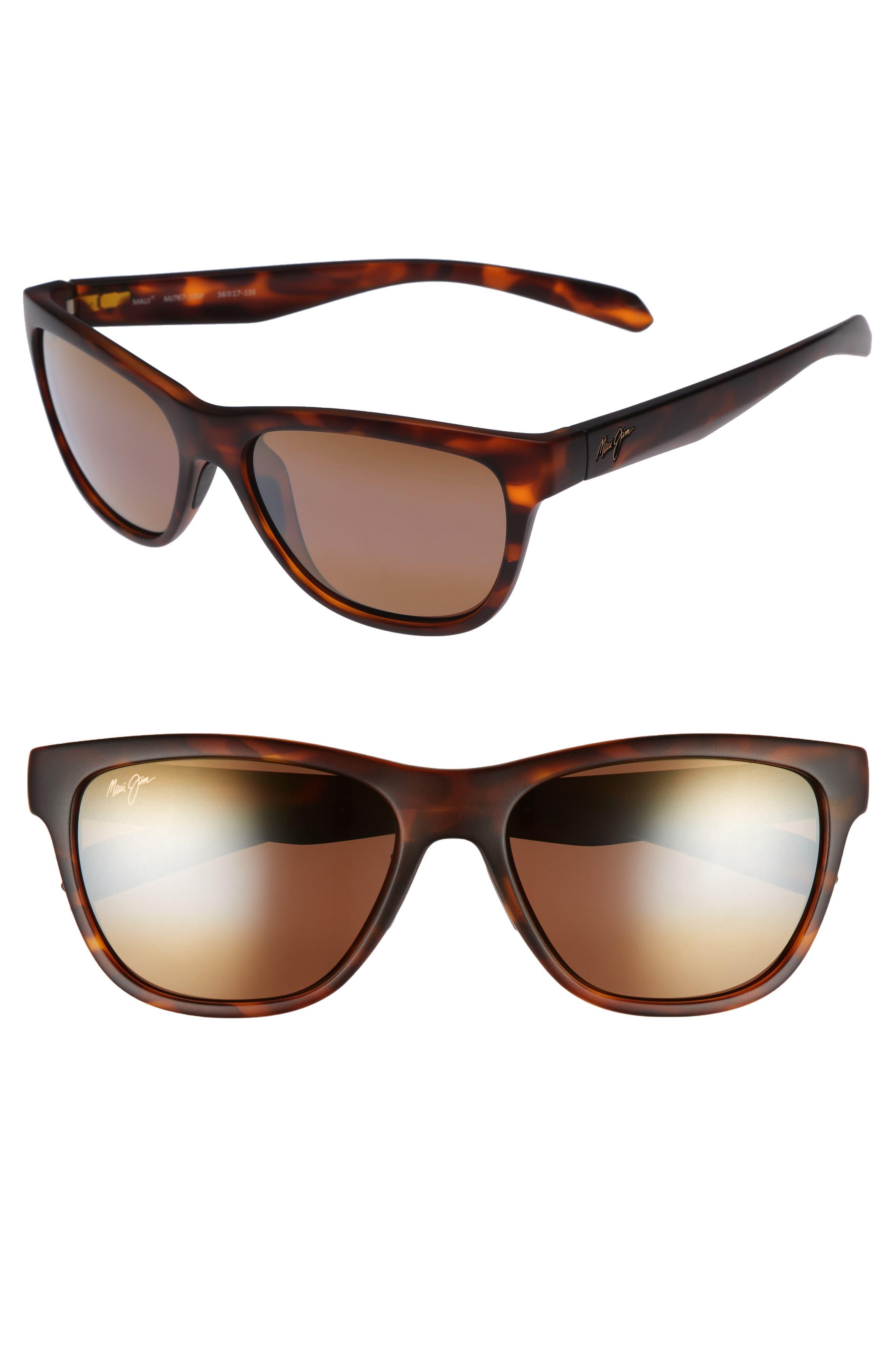 Secrets 56mm PolarizedPlus2<sup>®</sup> Sunglasses,                             Main thumbnail 1, color,                             MATTE TORTOISE/ BRONZE