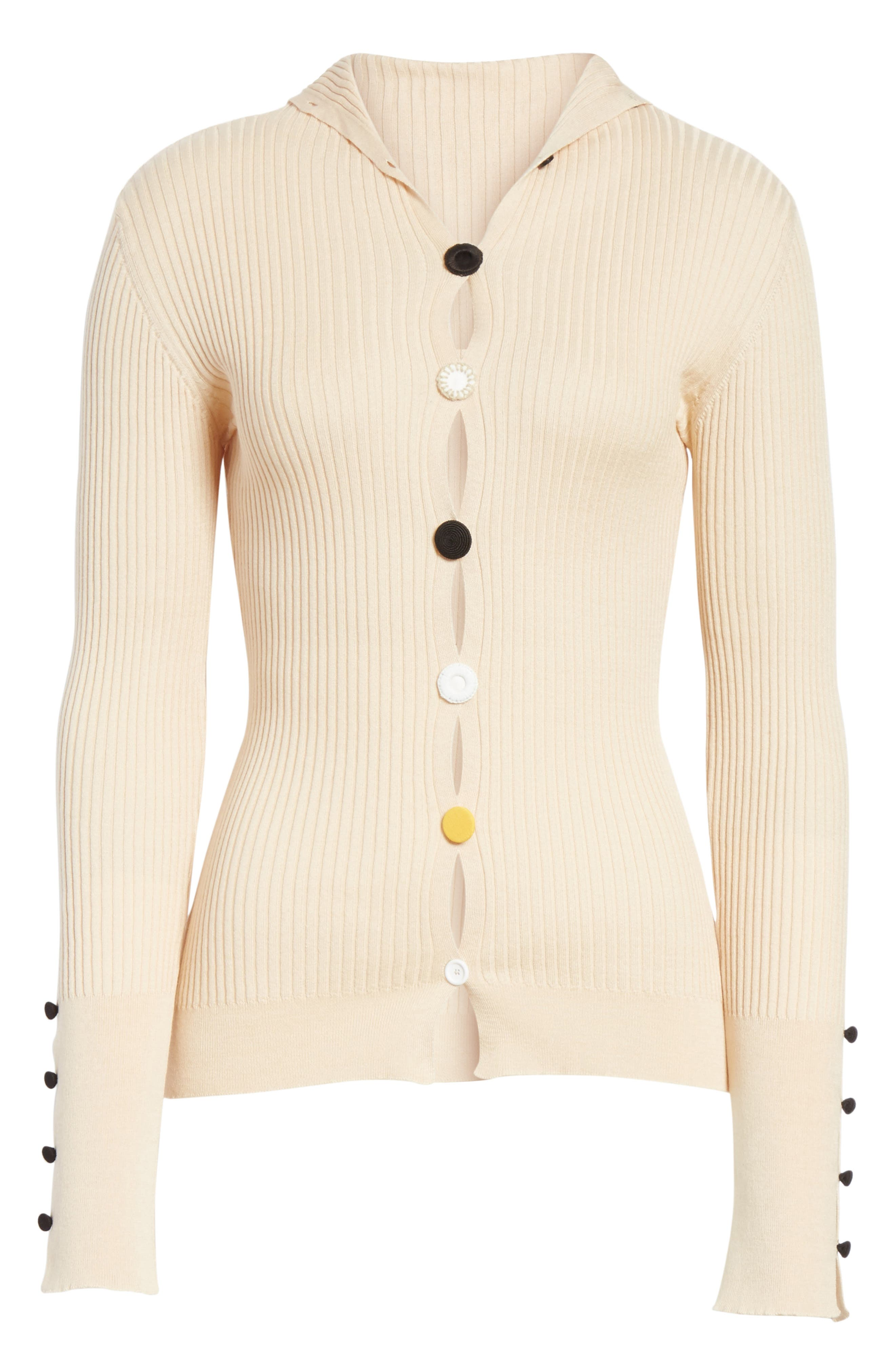 Le Cardigan Ribbed Button Cardigan,                             Alternate thumbnail 6, color,