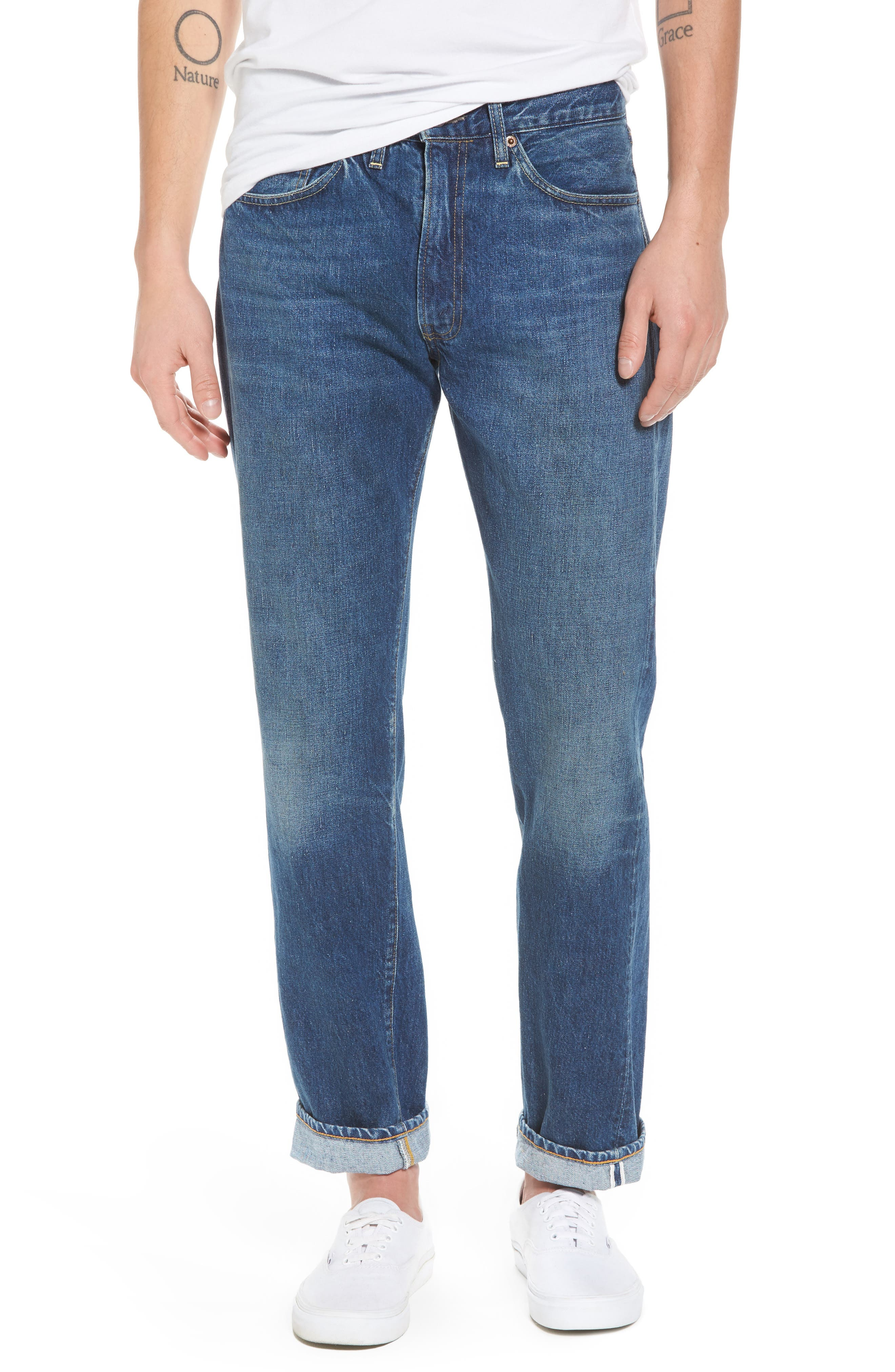 1954 501<sup>®</sup> Tapered Leg Jeans,                         Main,                         color, 401