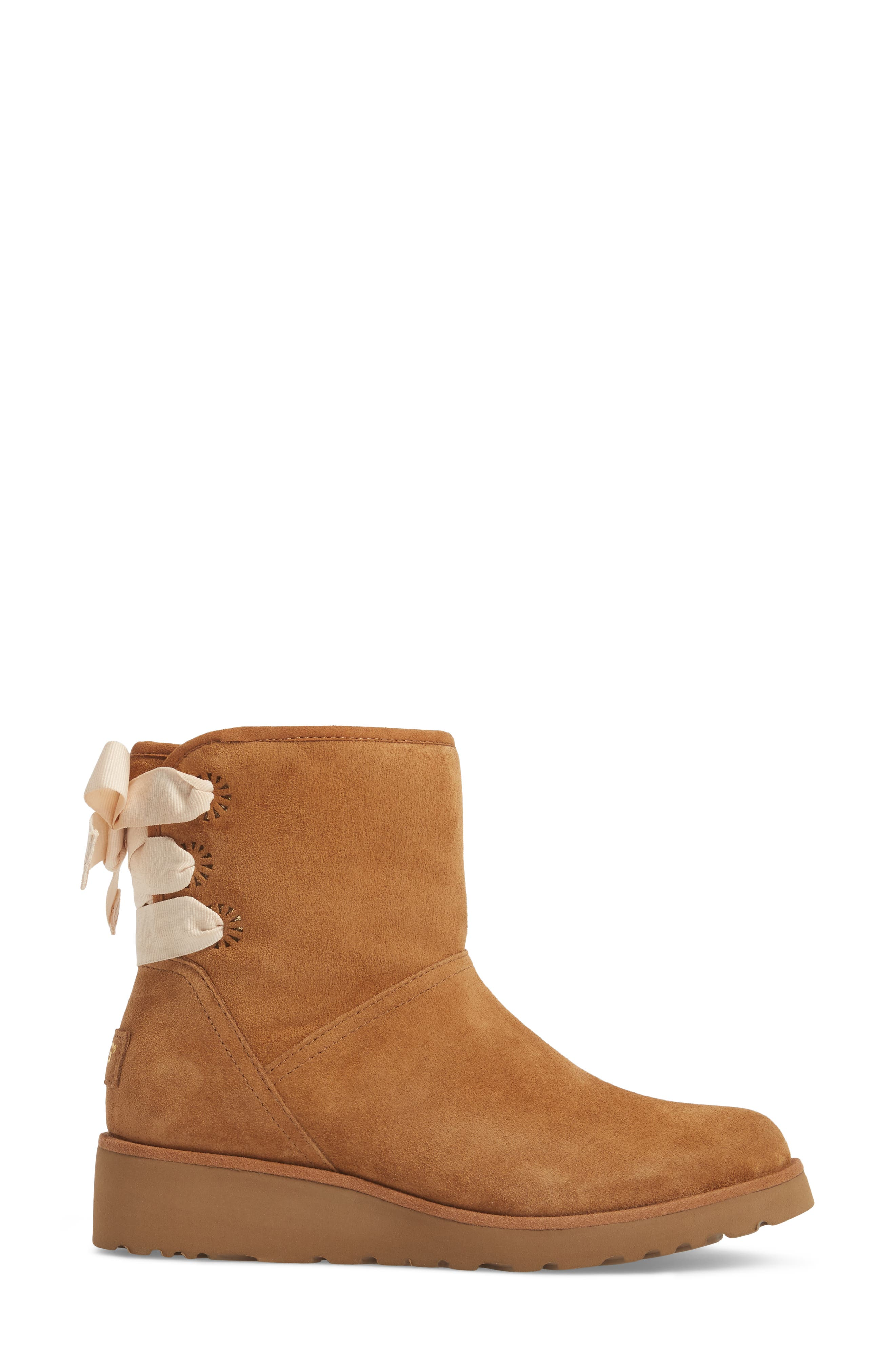 Drew Sunshine Perforated Tie Back Boot,                             Alternate thumbnail 8, color,