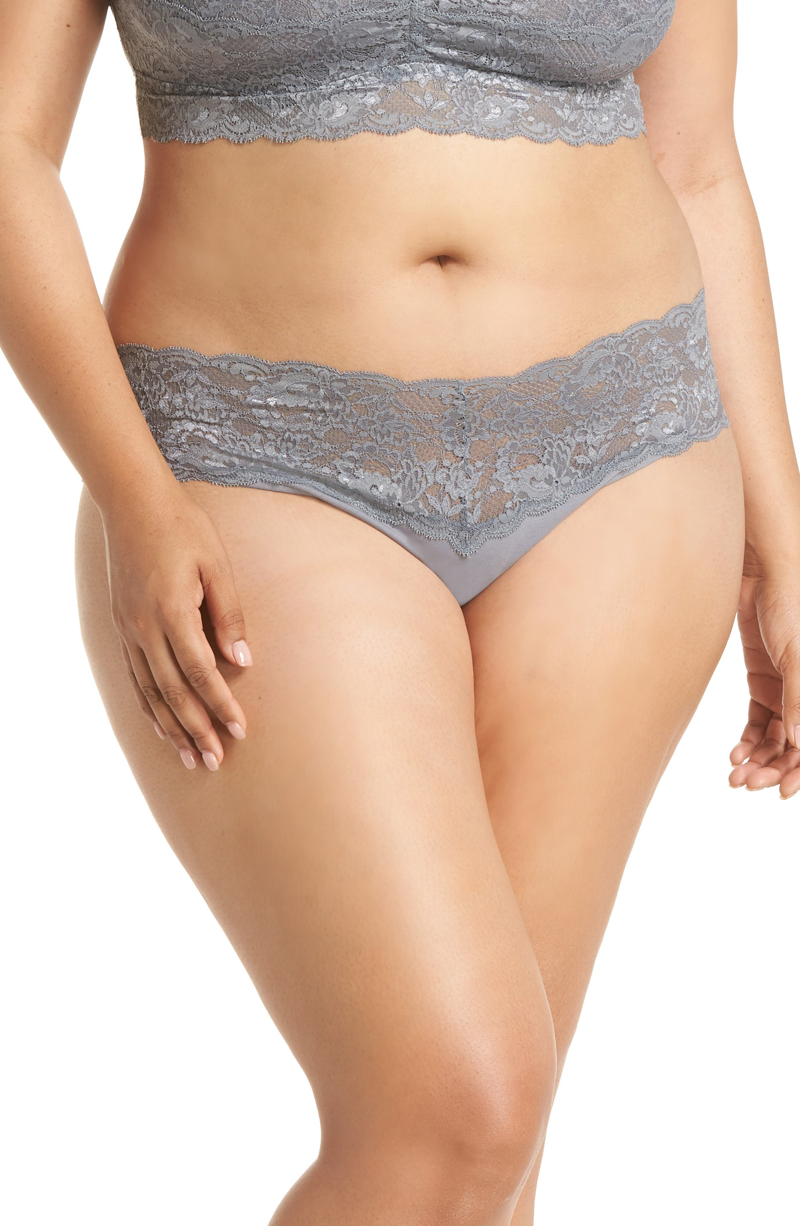 'Never Say Never Lovely' Thong,                         Main,                         color, PLATINUM