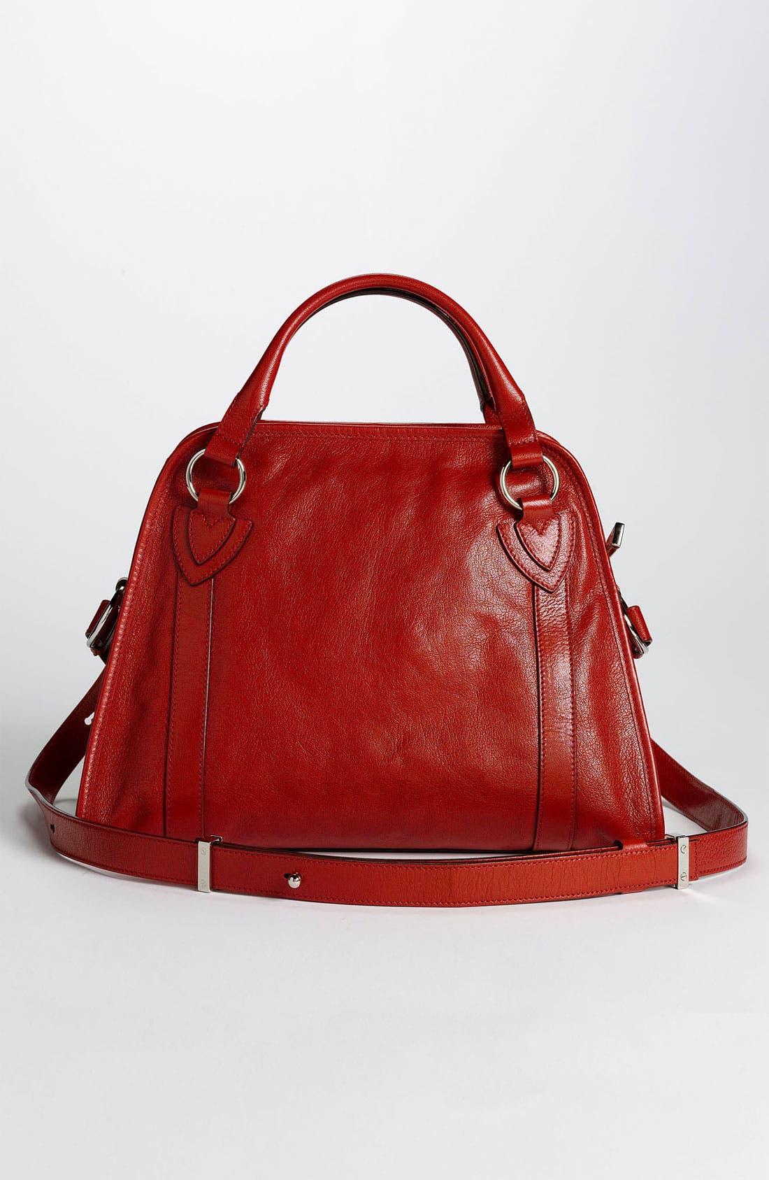 'Classic Wellington' Leather Satchel,                             Alternate thumbnail 40, color,