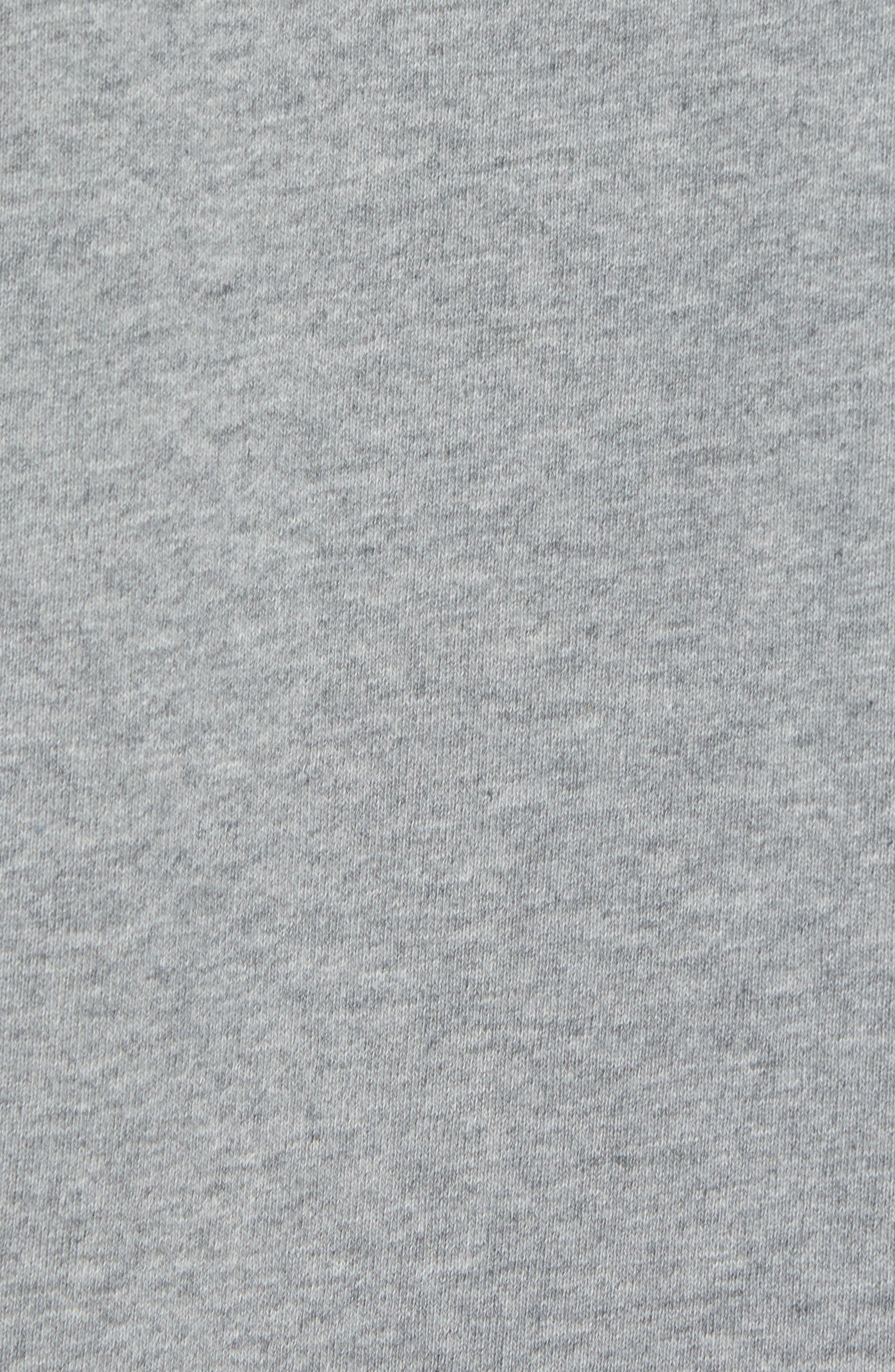 Classic Fit Short Sleeve Sweatshirt,                             Alternate thumbnail 5, color,                             020