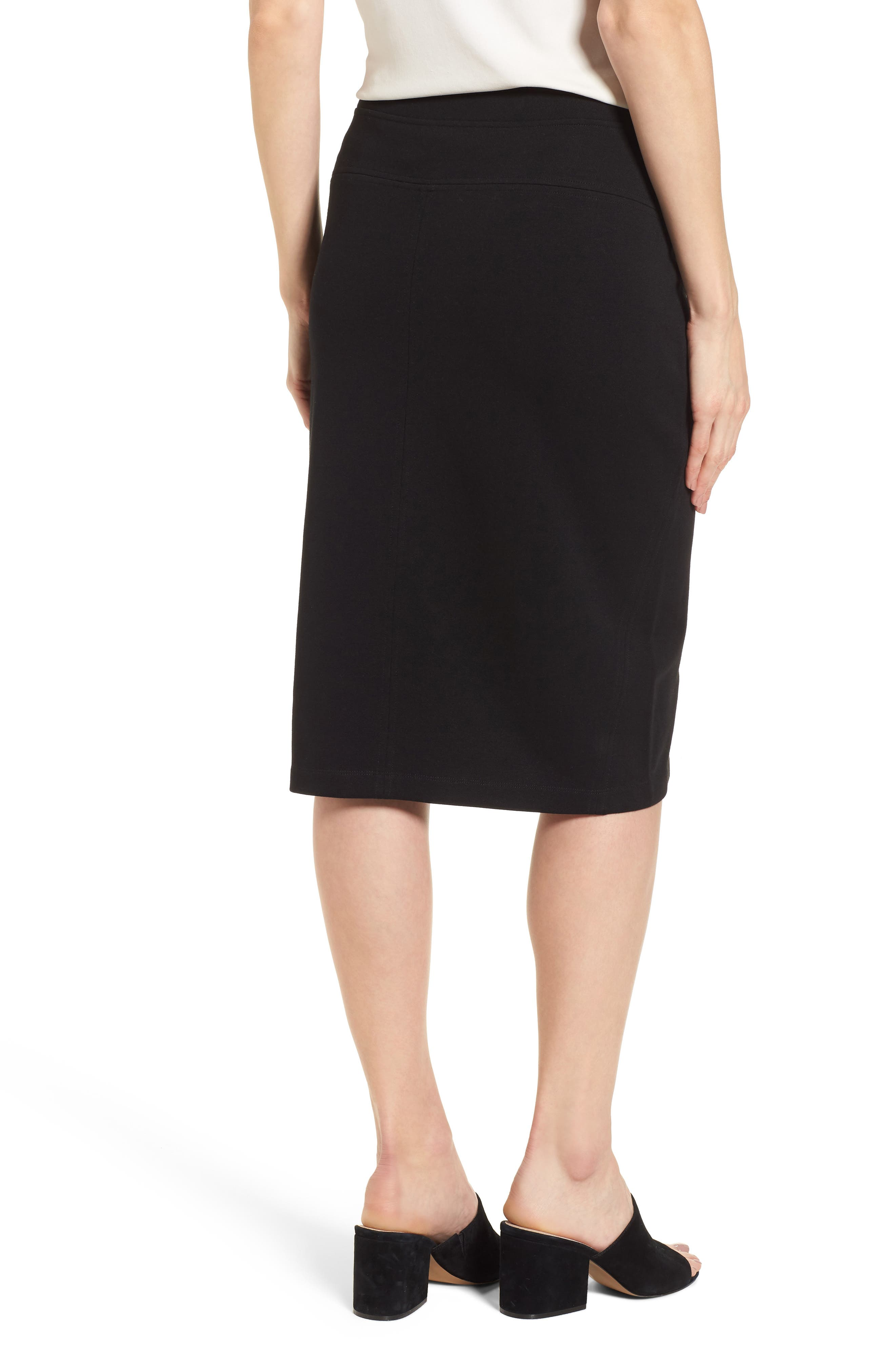Tencel<sup>®</sup> Lyocell Blend Knit Pencil Skirt,                             Alternate thumbnail 2, color,