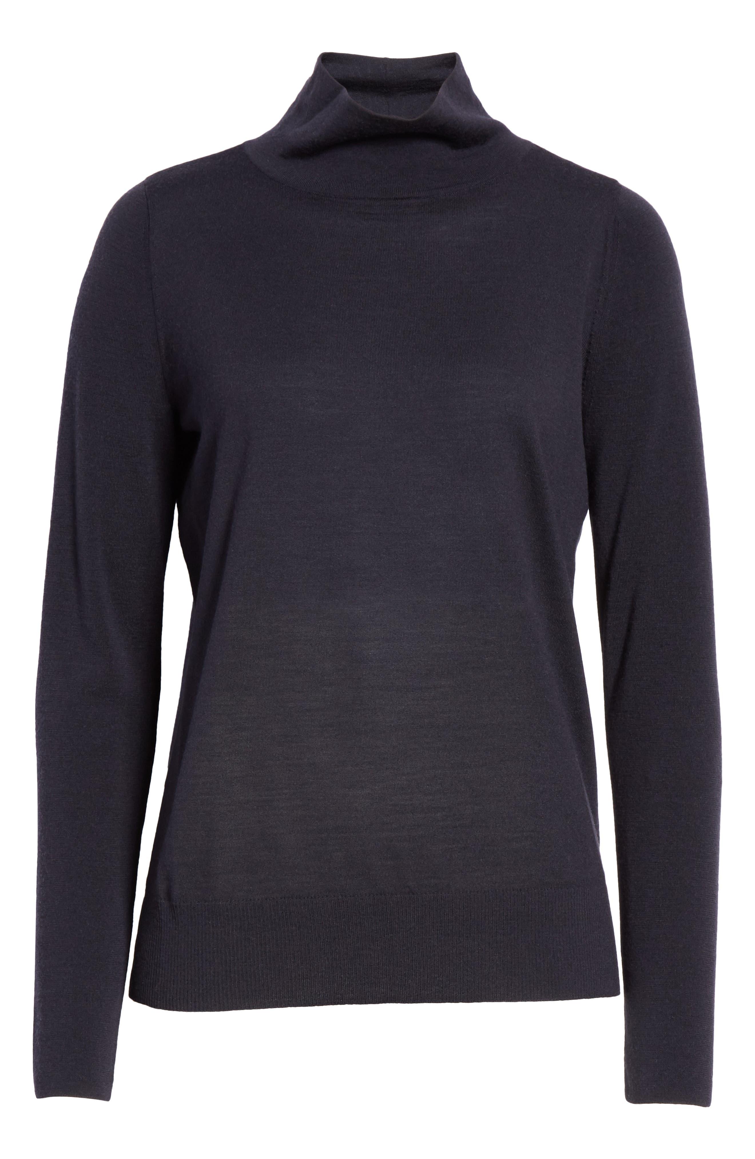 Merino Wool Modern Turtleneck Sweater,                             Alternate thumbnail 6, color,                             479