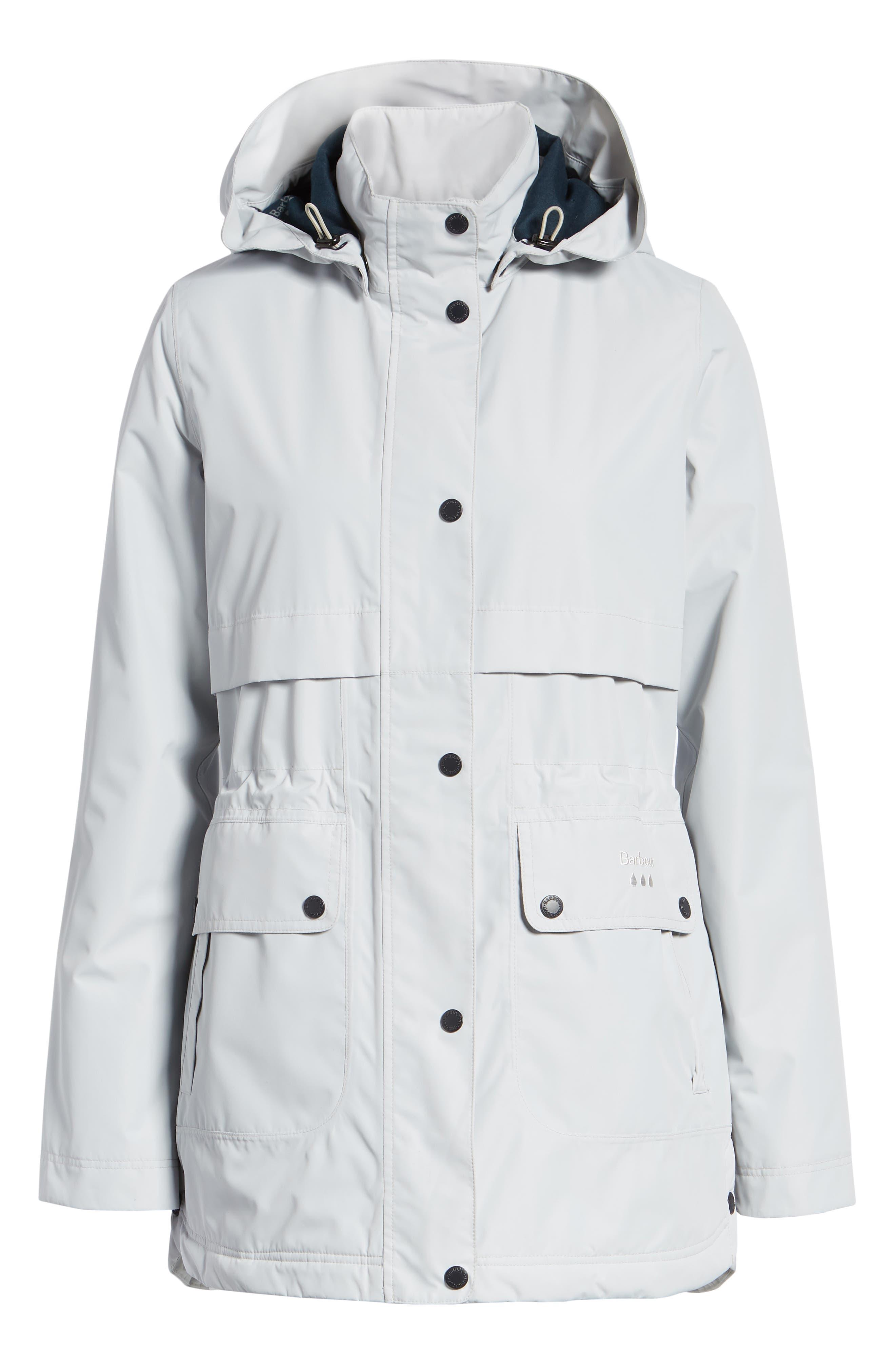 Altair Waterproof Hooded Jacket,                             Alternate thumbnail 6, color,                             ICE WHITE