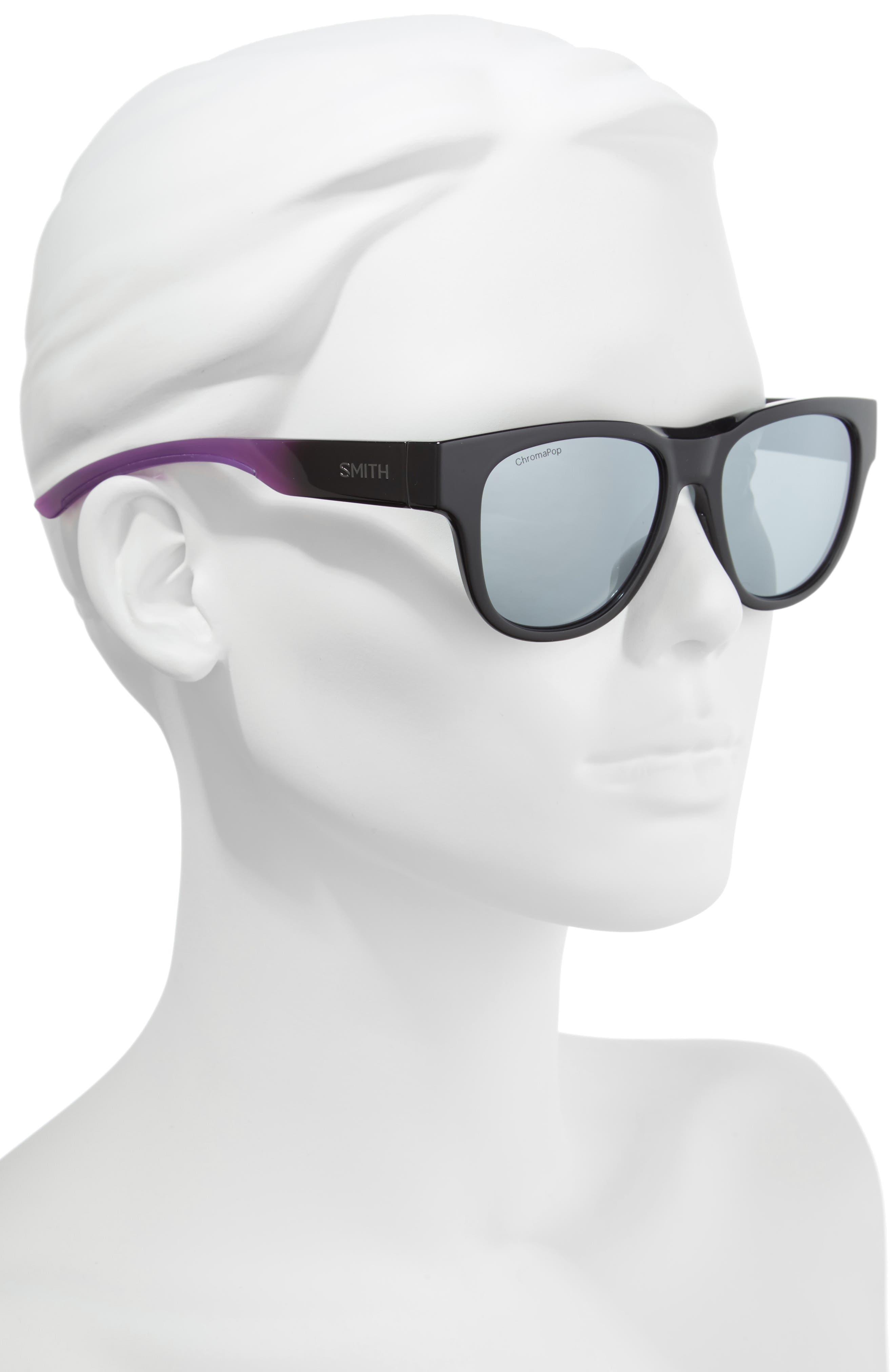 Rounder 52mm ChromaPop<sup>™</sup> Polarized Sunglasses,                             Alternate thumbnail 2, color,                             VIOLET SPRAY