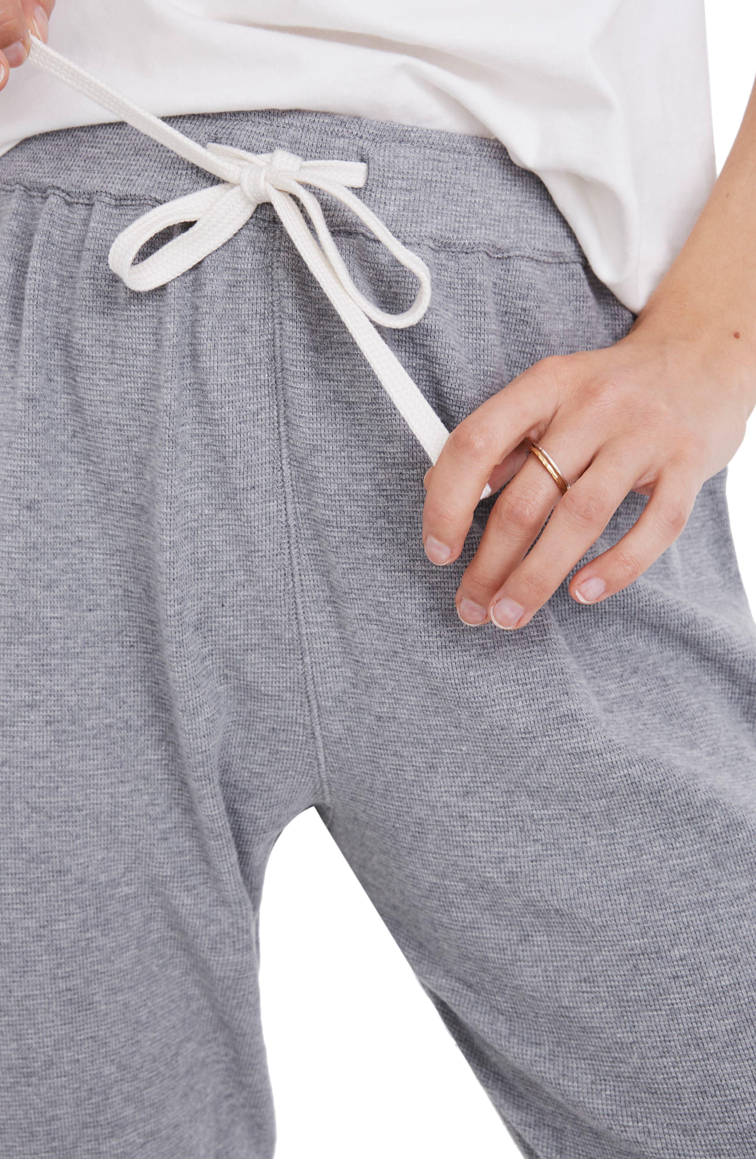 Honeycomb Pajama Sweatpants,                             Alternate thumbnail 4, color,                             HEATHER PEPPER