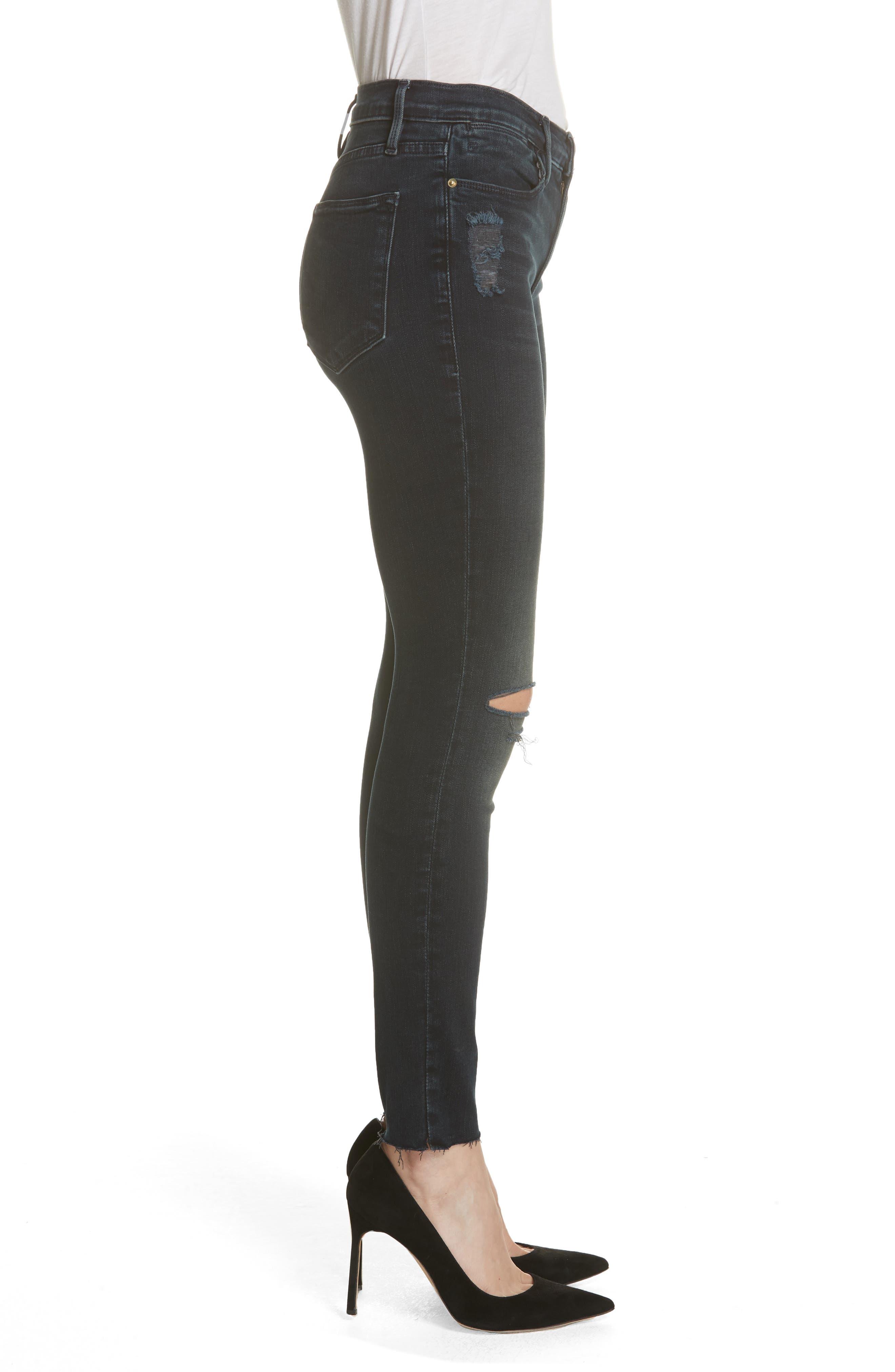 Le High Skinny Jeans,                             Alternate thumbnail 3, color,                             402