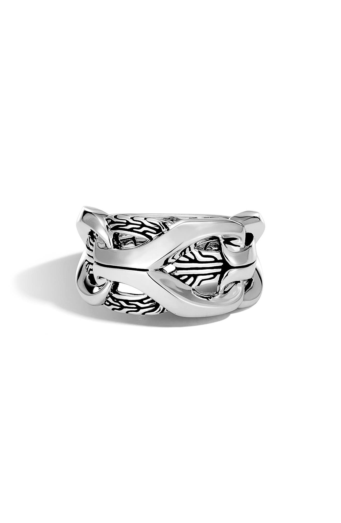 Men's Classic Chain Ring,                             Main thumbnail 1, color,                             SILVER