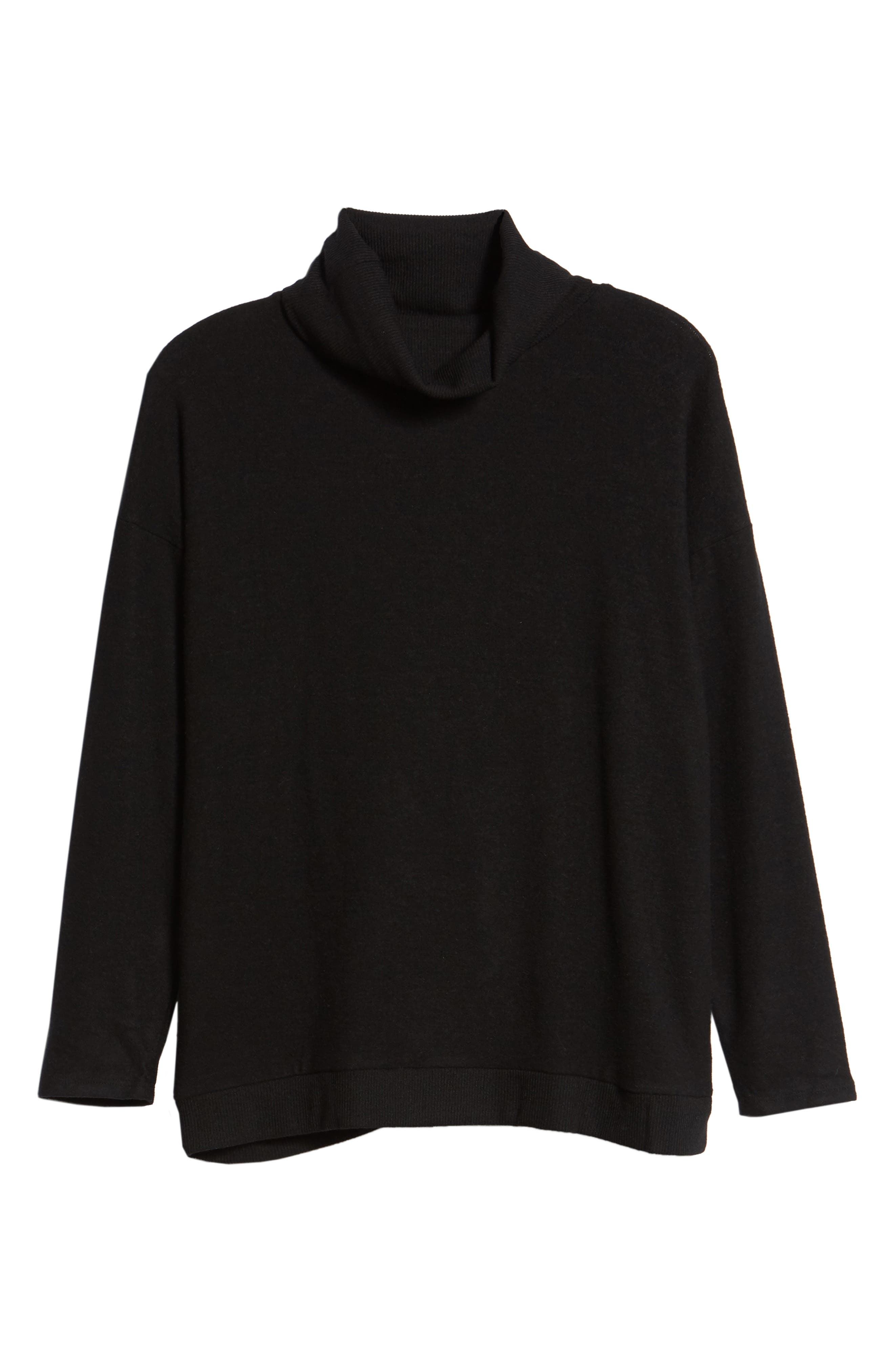Cozy Turtleneck,                             Alternate thumbnail 6, color,                             BLACK