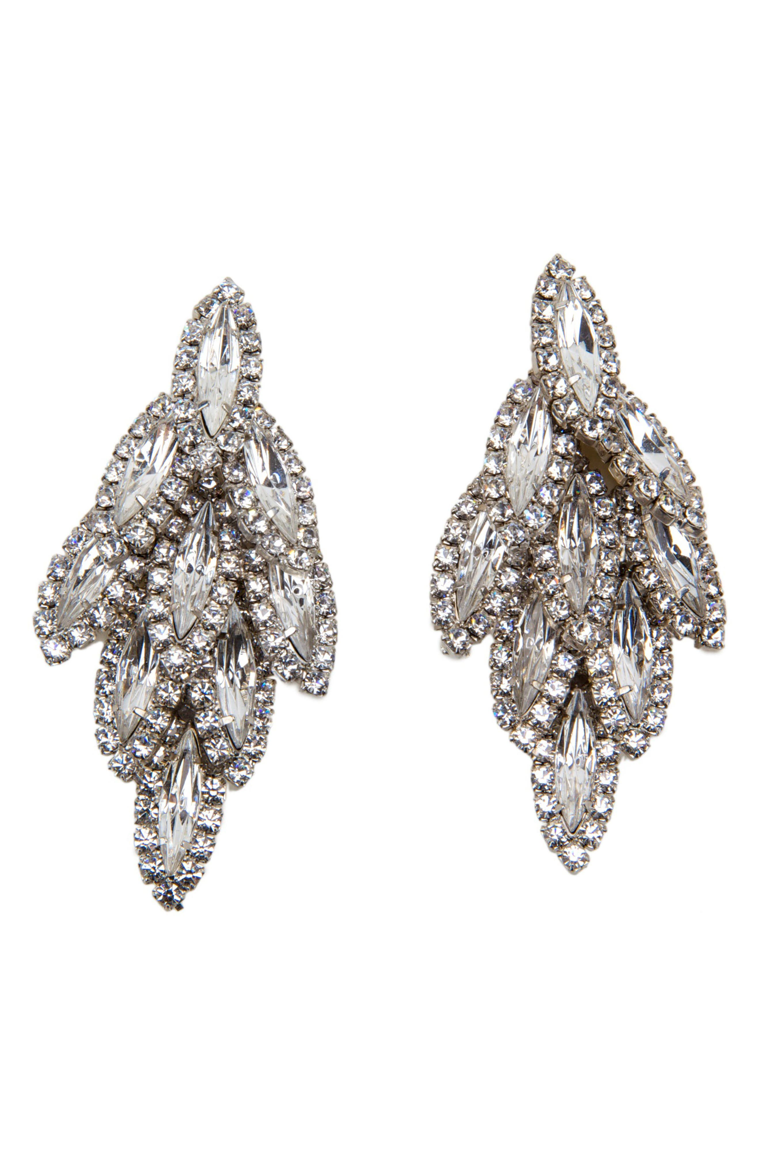 Bacall Crystal Drop Earrings,                             Main thumbnail 1, color,                             040