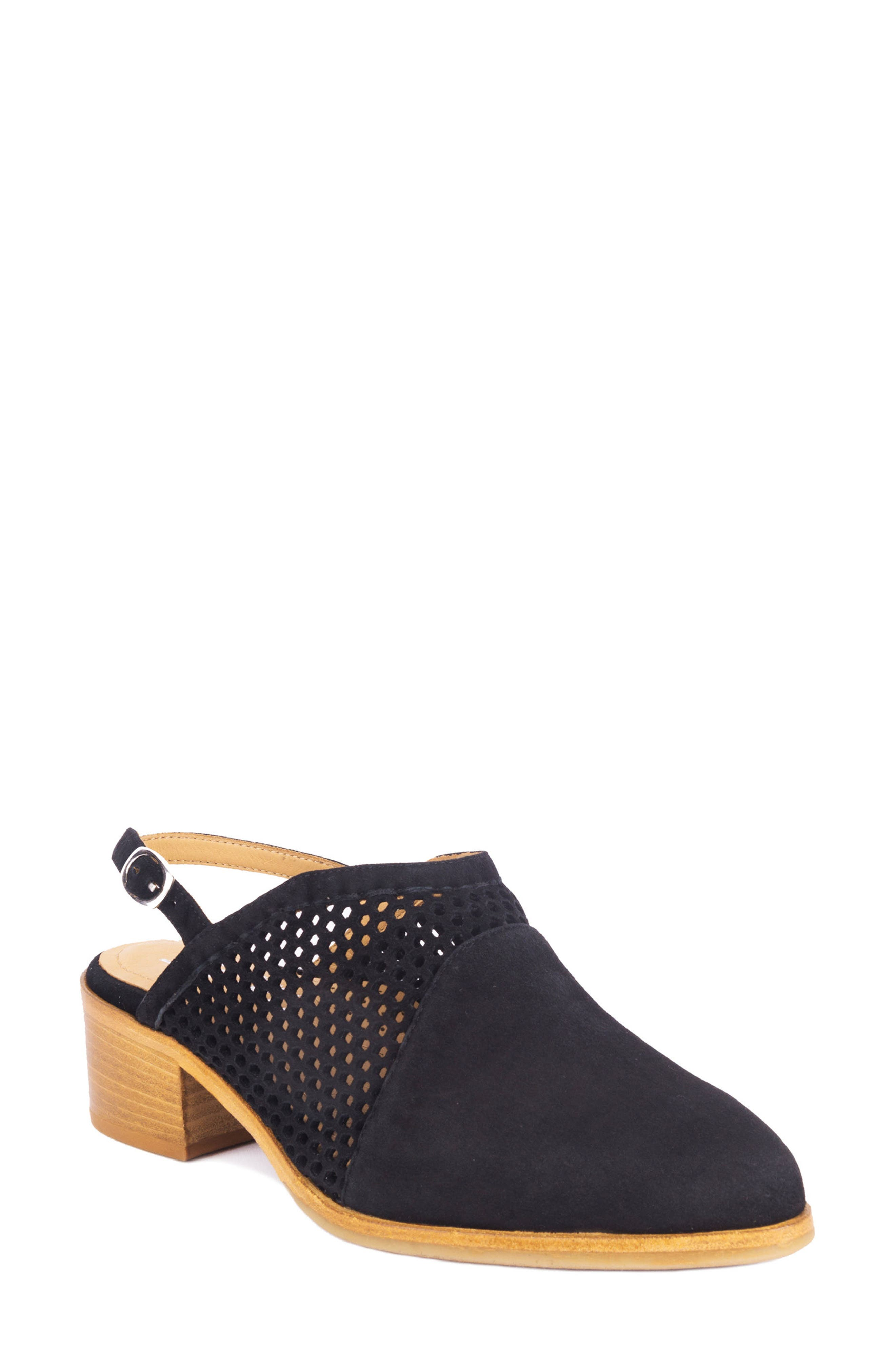 Toselli Water Resistant Slingback Bootie,                             Main thumbnail 1, color,                             NERO