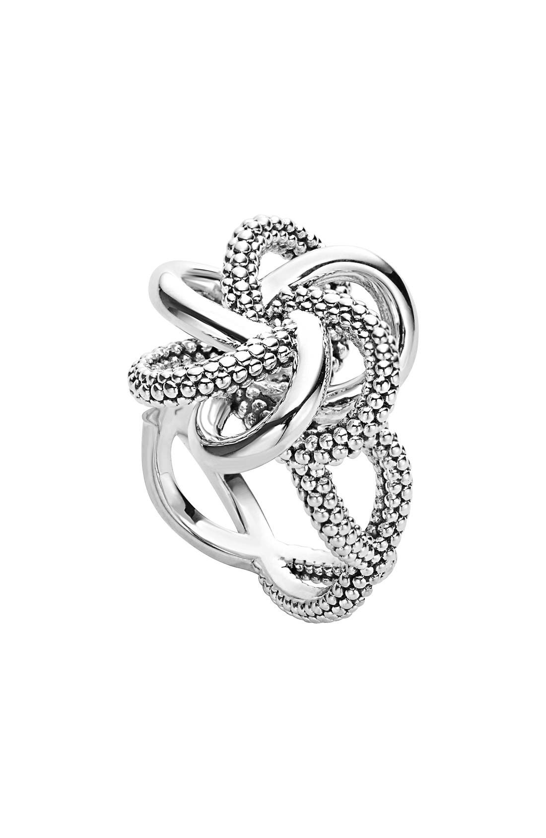 'Love Knot' Twist Ring,                             Main thumbnail 1, color,                             040