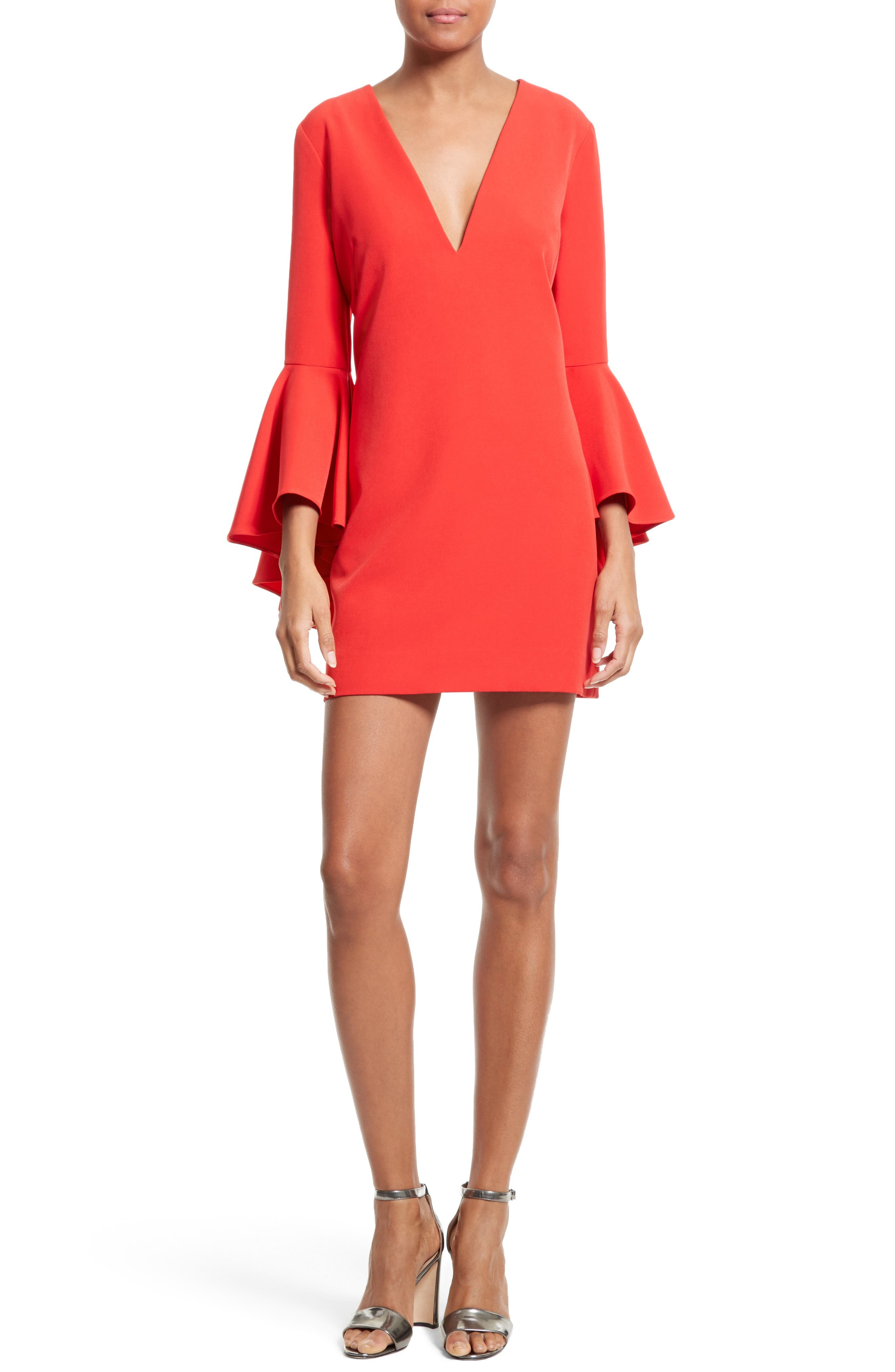 Nicole Bell Sleeve Dress,                             Alternate thumbnail 68, color,