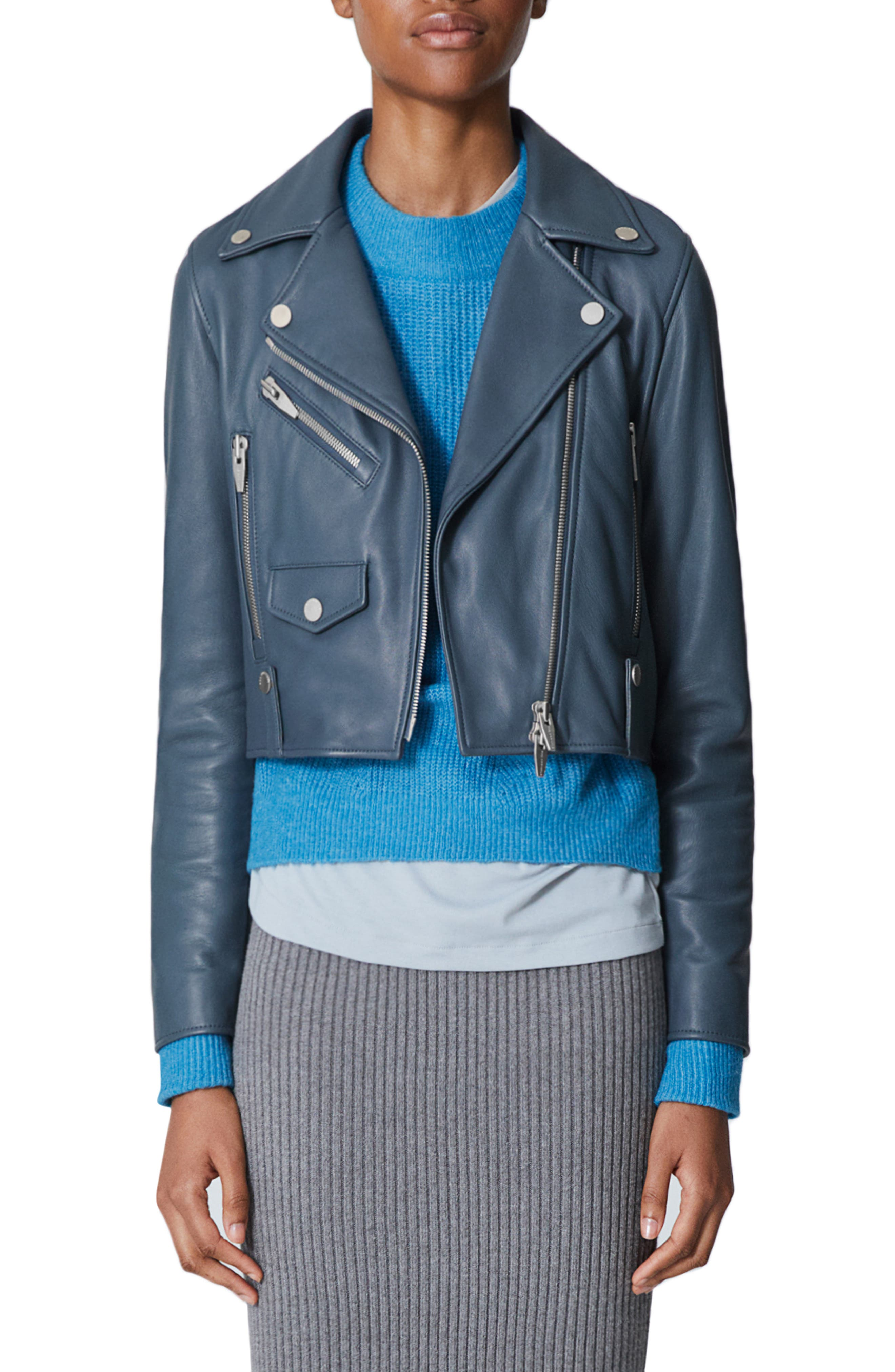 THE ARRIVALS Clo Mini Leather Jacket in Slate