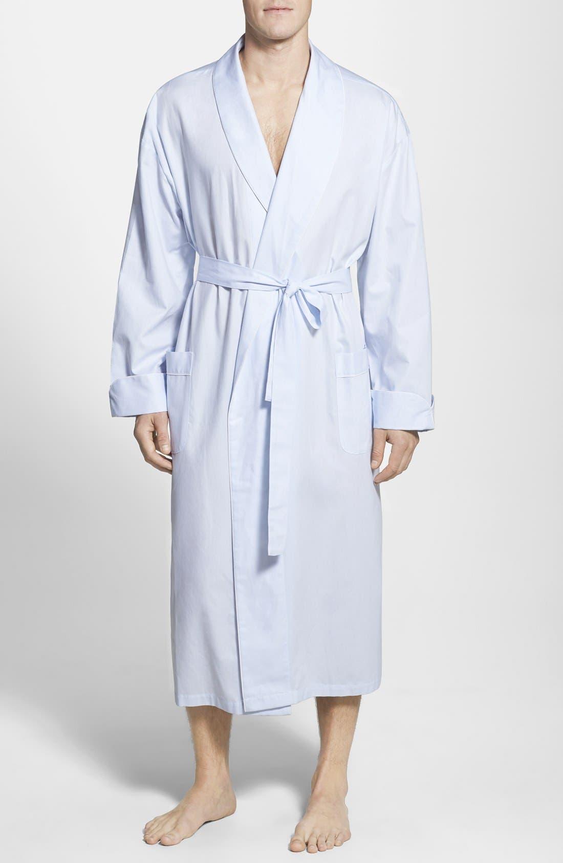 MAJESTIC INTERNATIONAL,                             'Signature' Cotton Robe,                             Main thumbnail 1, color,                             SURF