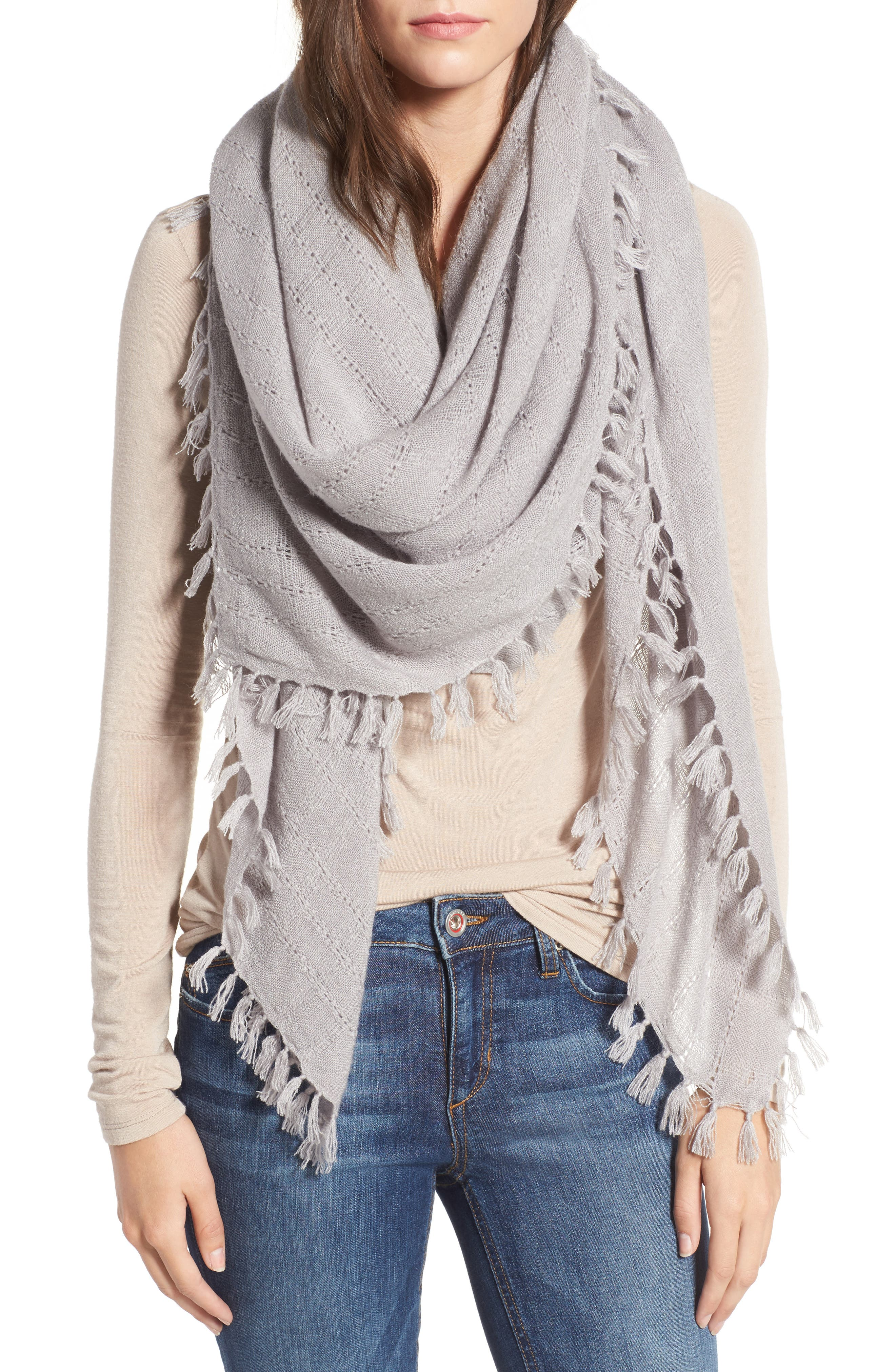 Knotted Tassel Scarf,                             Main thumbnail 2, color,