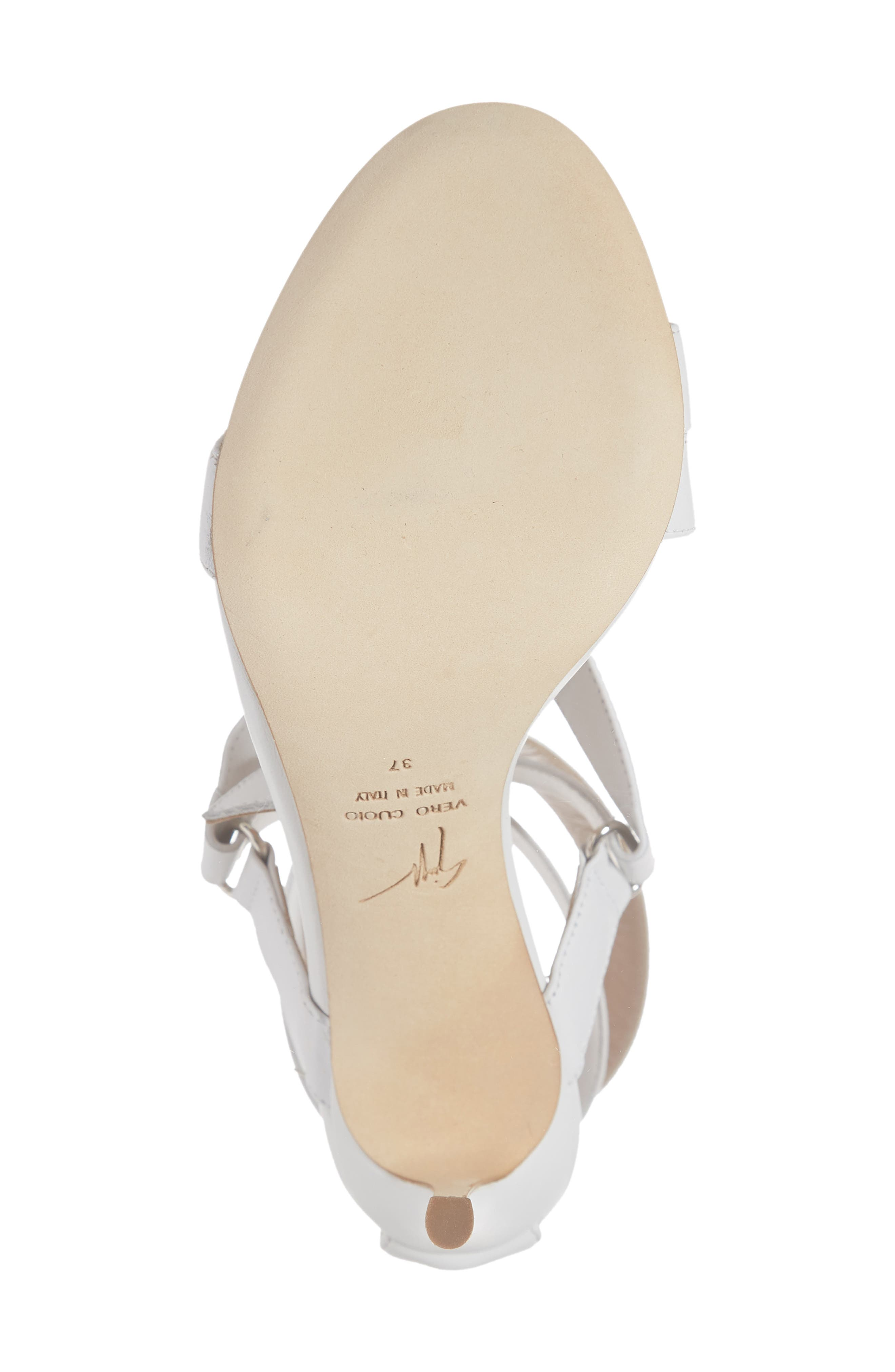 GIUSEPPE ZANOTTI,                             Wrap Sandal,                             Alternate thumbnail 6, color,                             WHITE