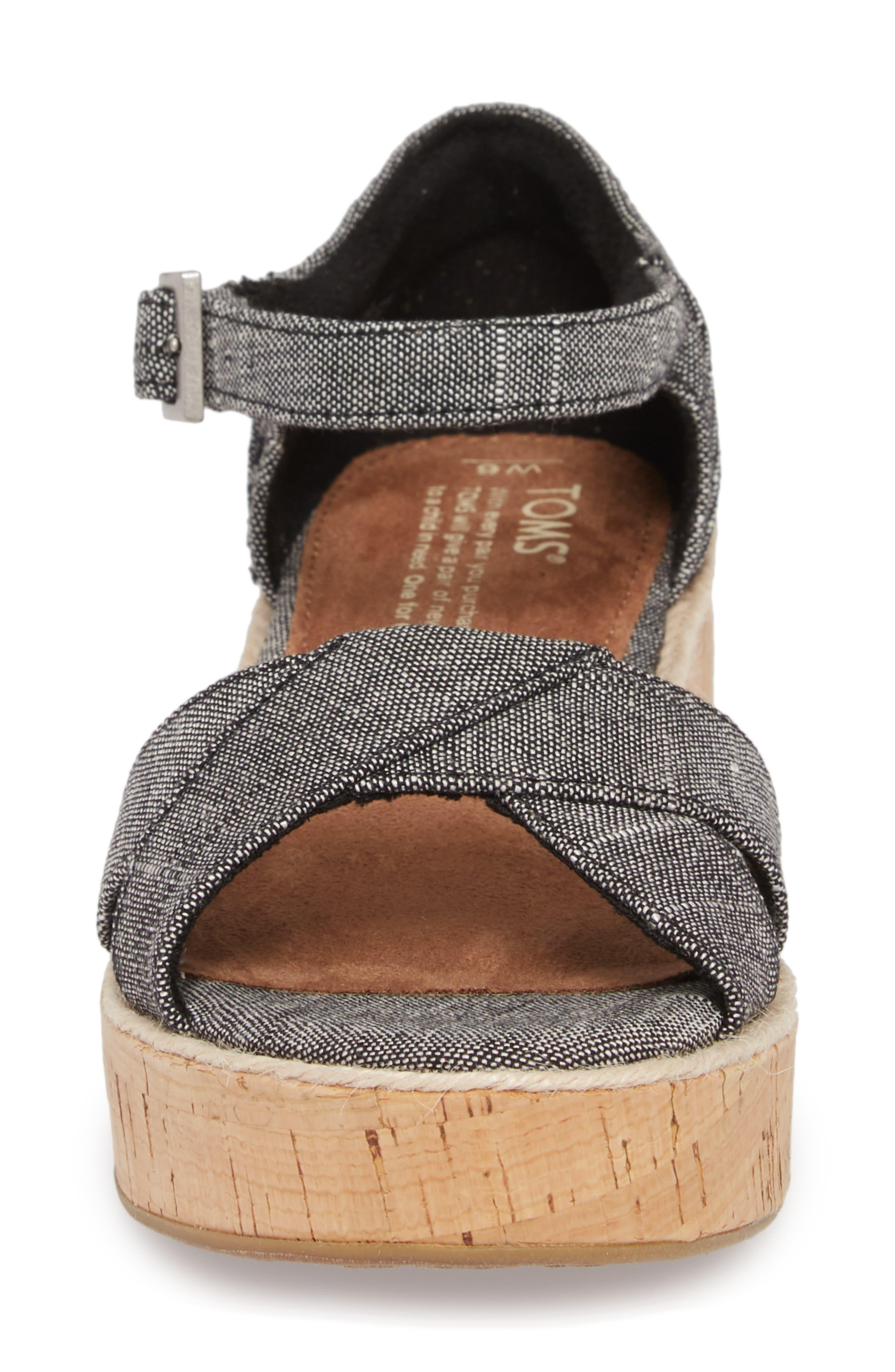 Harper Platform Sandal,                             Alternate thumbnail 4, color,                             001