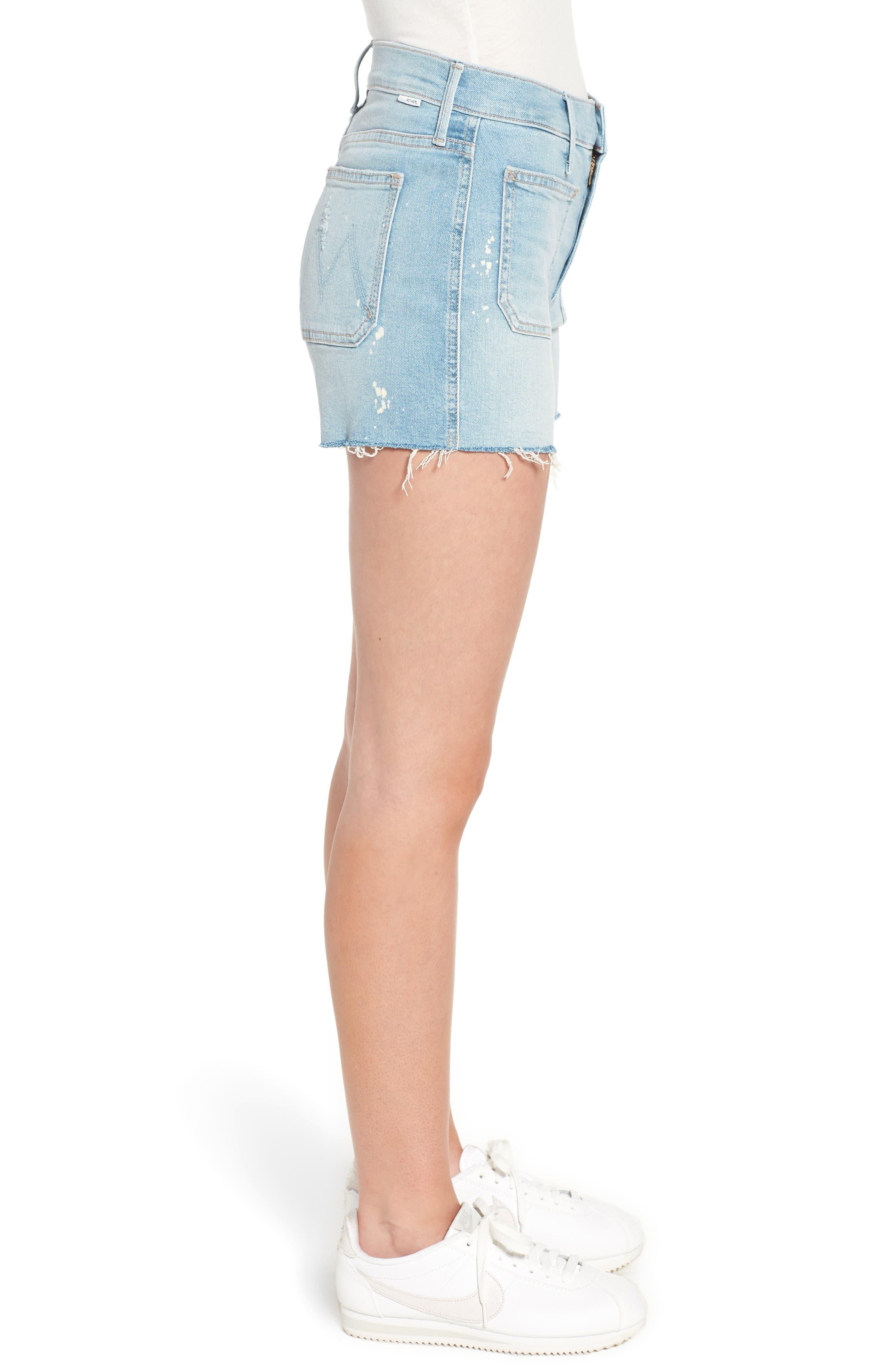 The Patchie Denim Shorts,                             Alternate thumbnail 3, color,