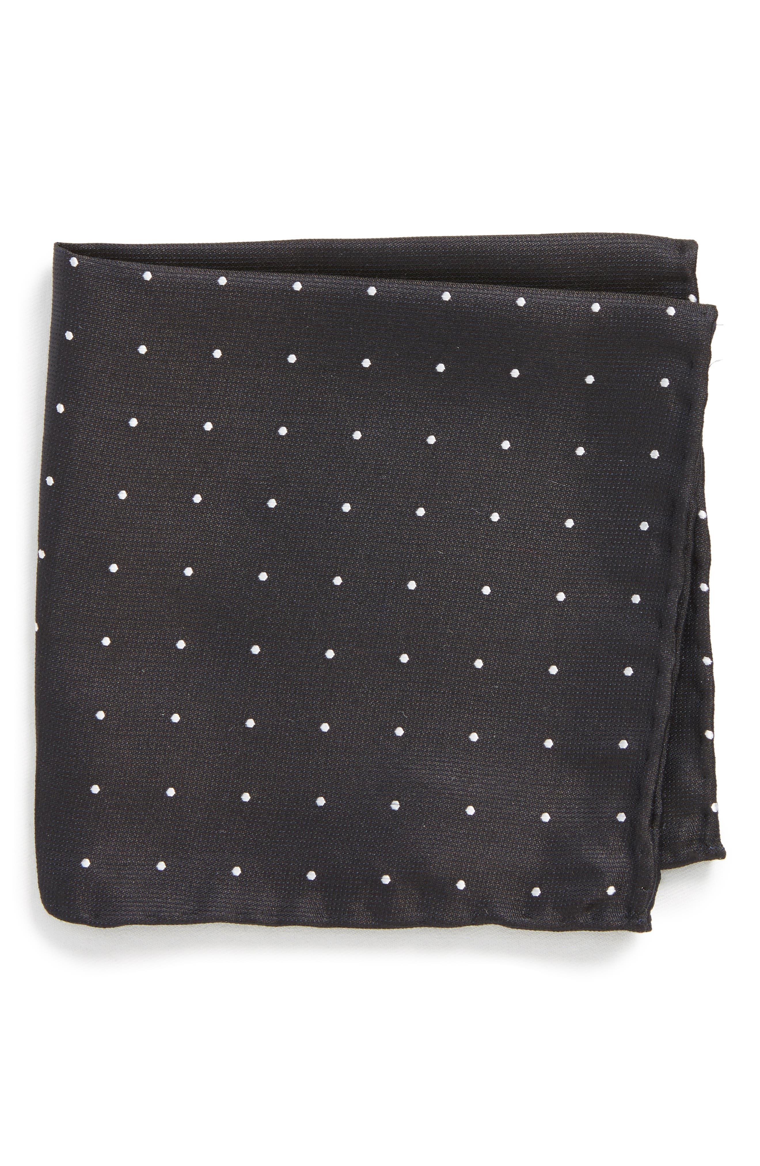 Dot Silk Pocket Square,                         Main,                         color, 001