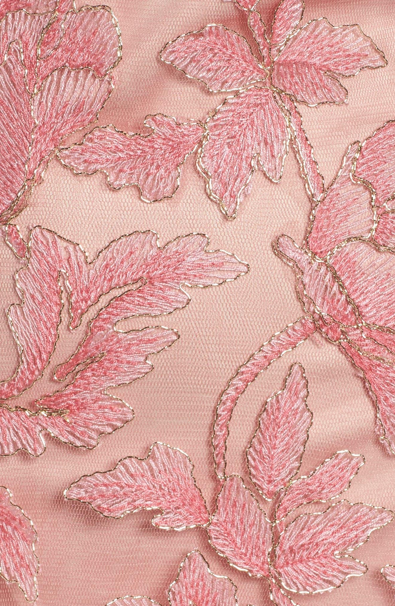 Noelle Floral Fit & Flare Dress,                             Alternate thumbnail 18, color,