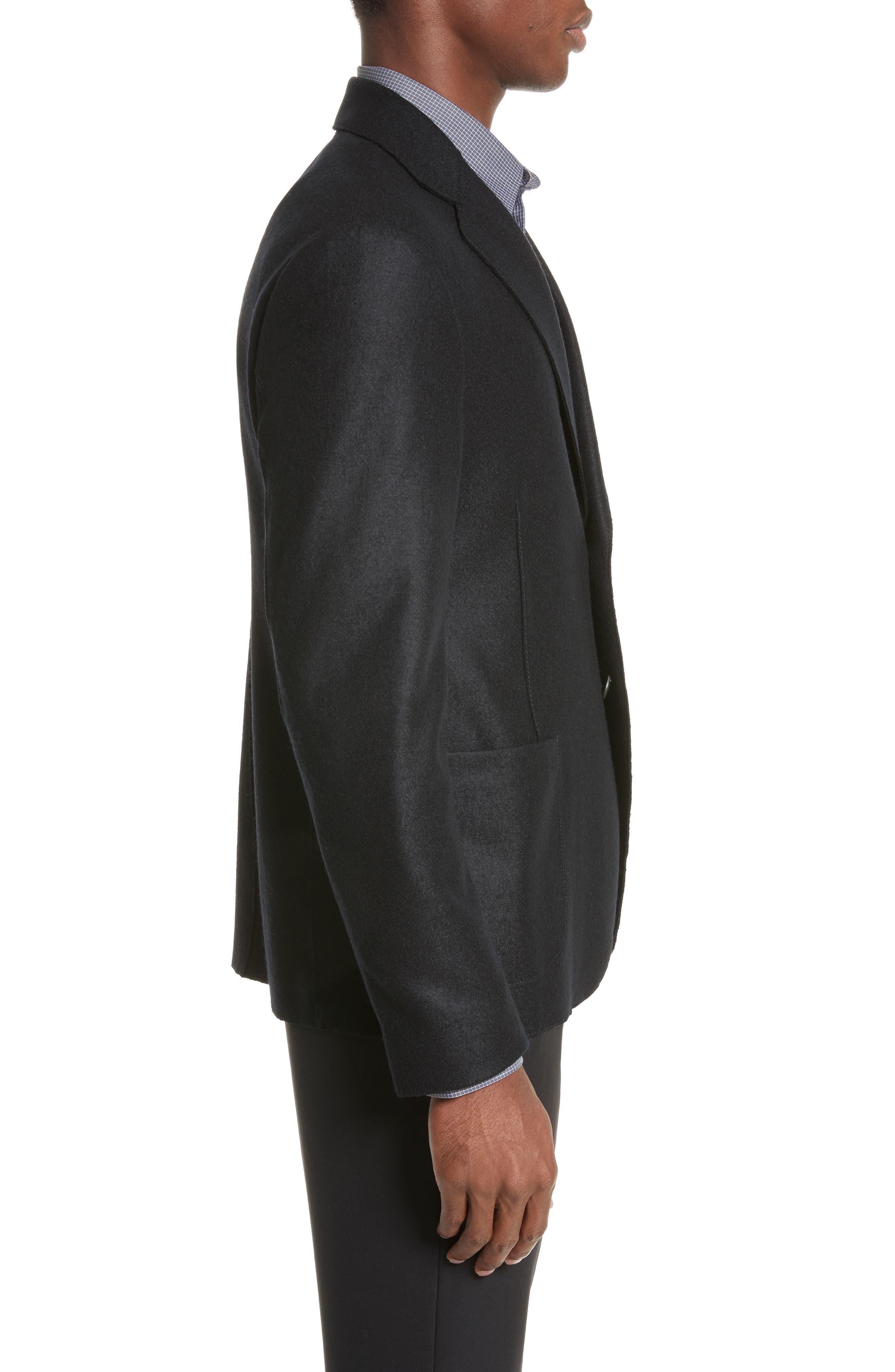 Regular Fit Jersey Sport Coat,                             Alternate thumbnail 3, color,                             004