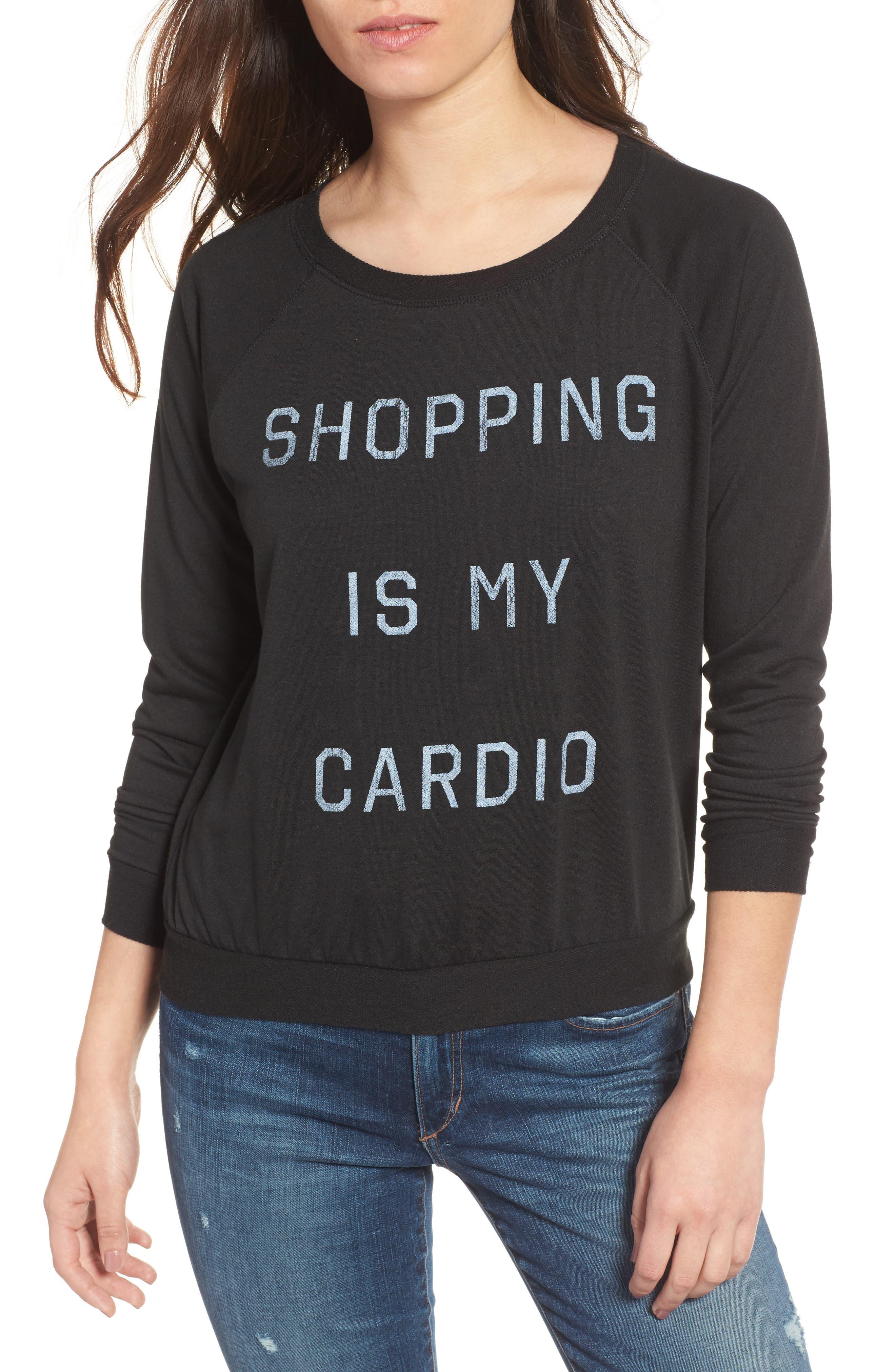 Shopping is My Cardio Tee,                             Main thumbnail 1, color,                             001