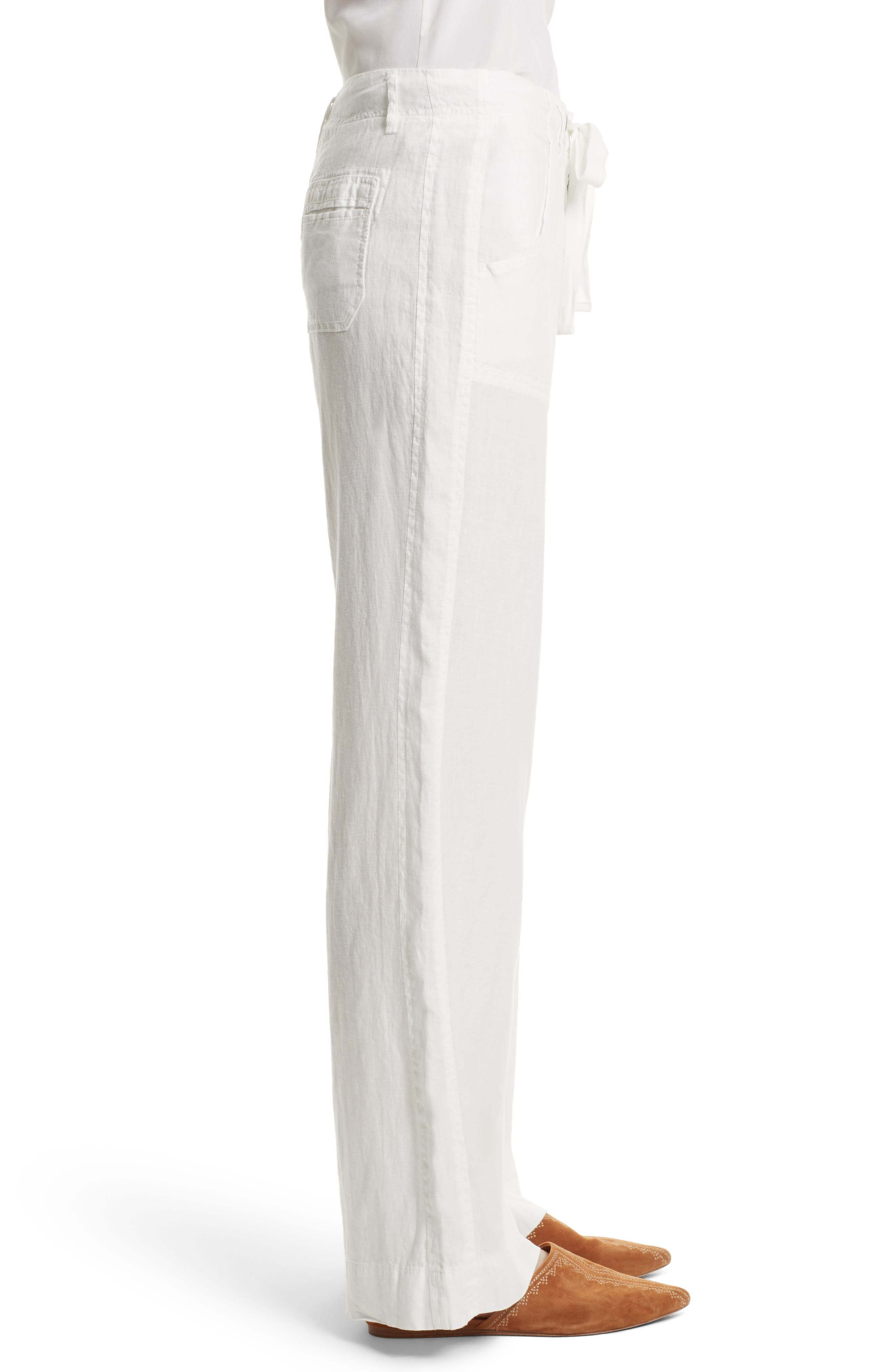 Wide Leg Linen Pants,                             Alternate thumbnail 13, color,