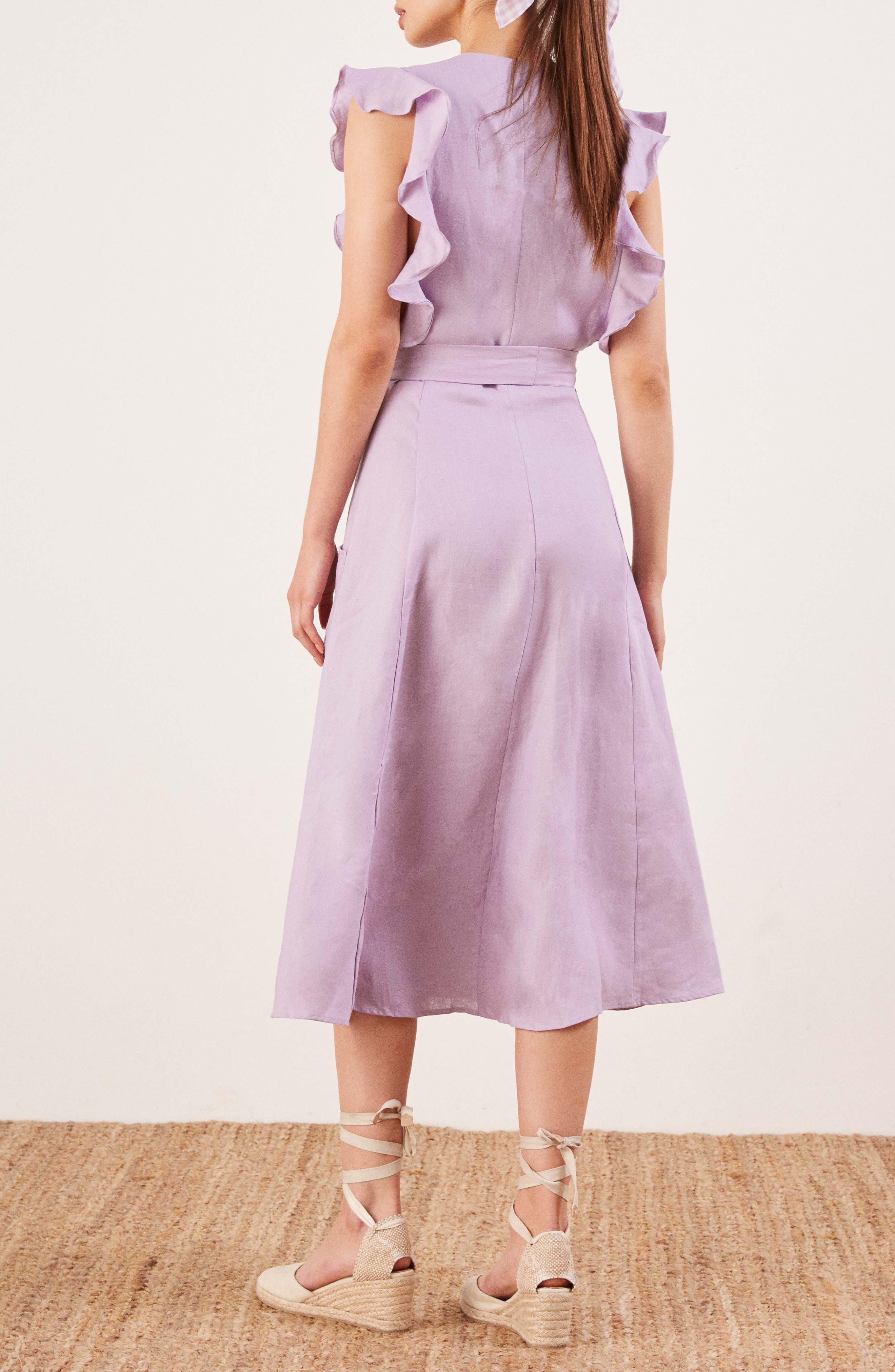 Serengeti Linen Dress,                             Alternate thumbnail 3, color,                             500
