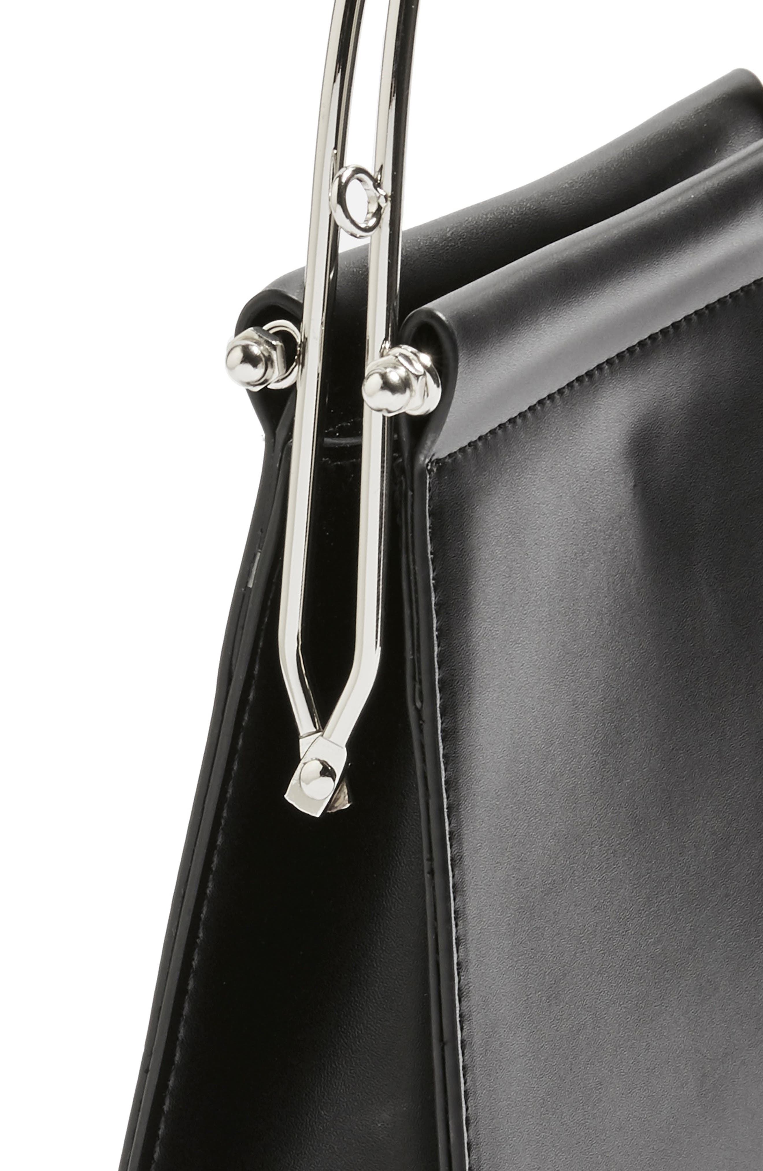TOPSHOP,                             Lola Top Handle Bag,                             Alternate thumbnail 4, color,                             BLACK