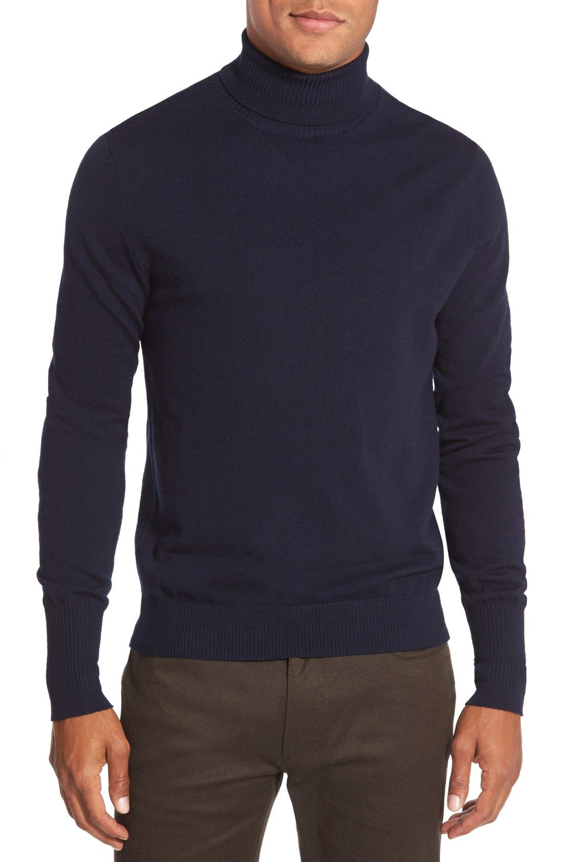 Vince Camuto Merino Wool Turtleneck, Blue