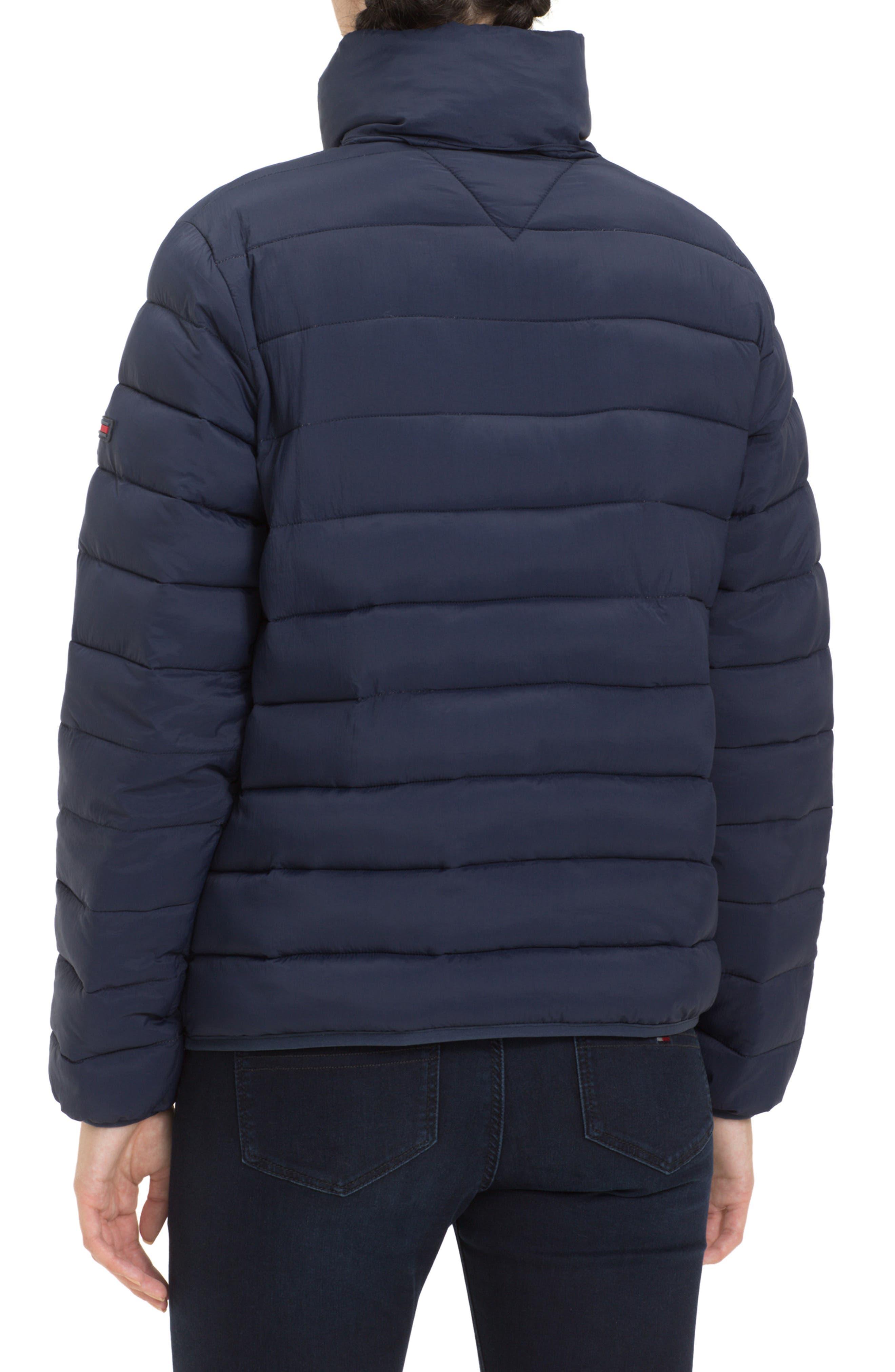TJW Quilted Half-Zip Puffer Jacket,                             Alternate thumbnail 2, color,                             BLACK IRIS