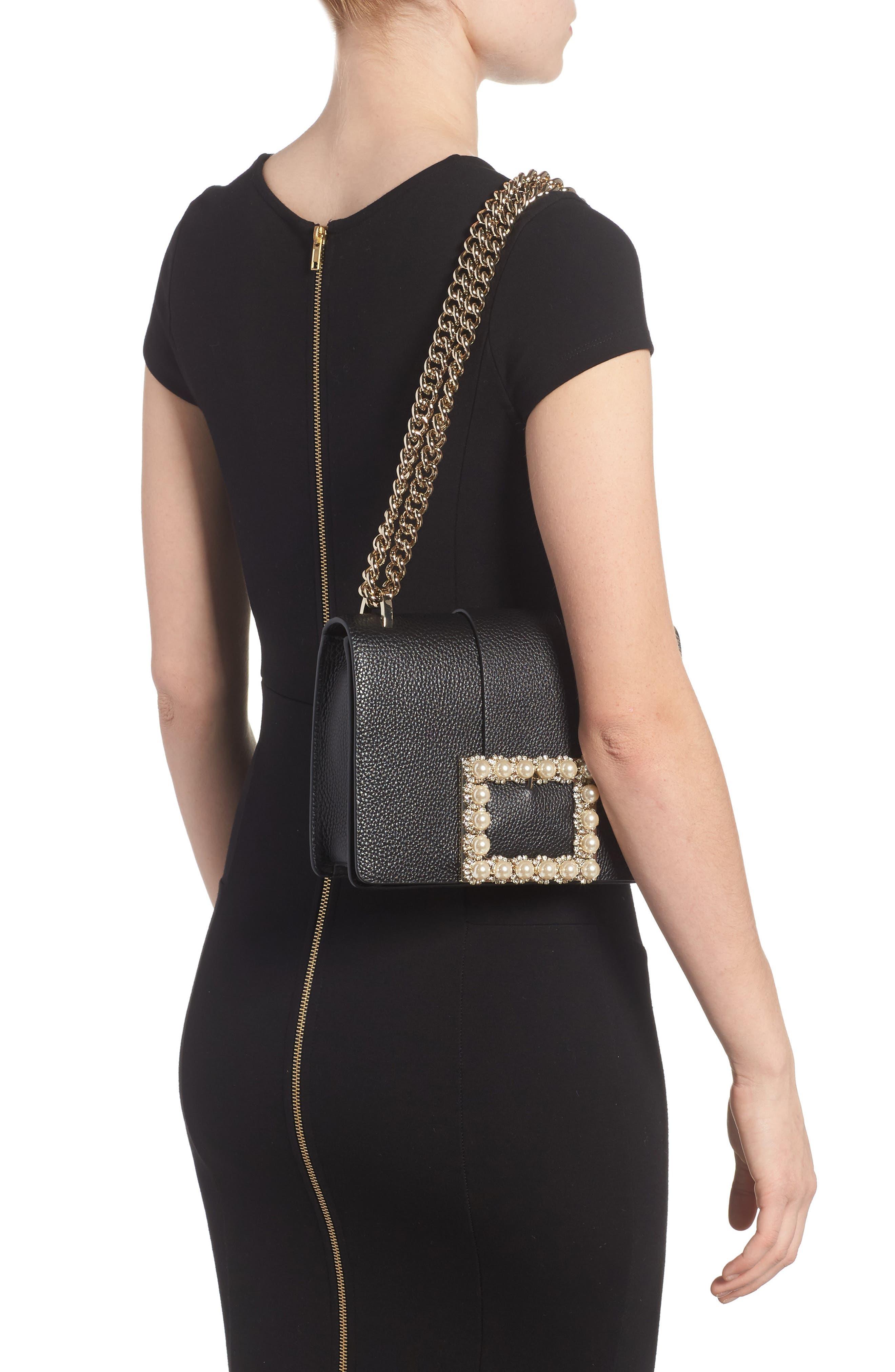 madison knollwood drive - buckle marci leather shoulder bag,                             Alternate thumbnail 2, color,                             001