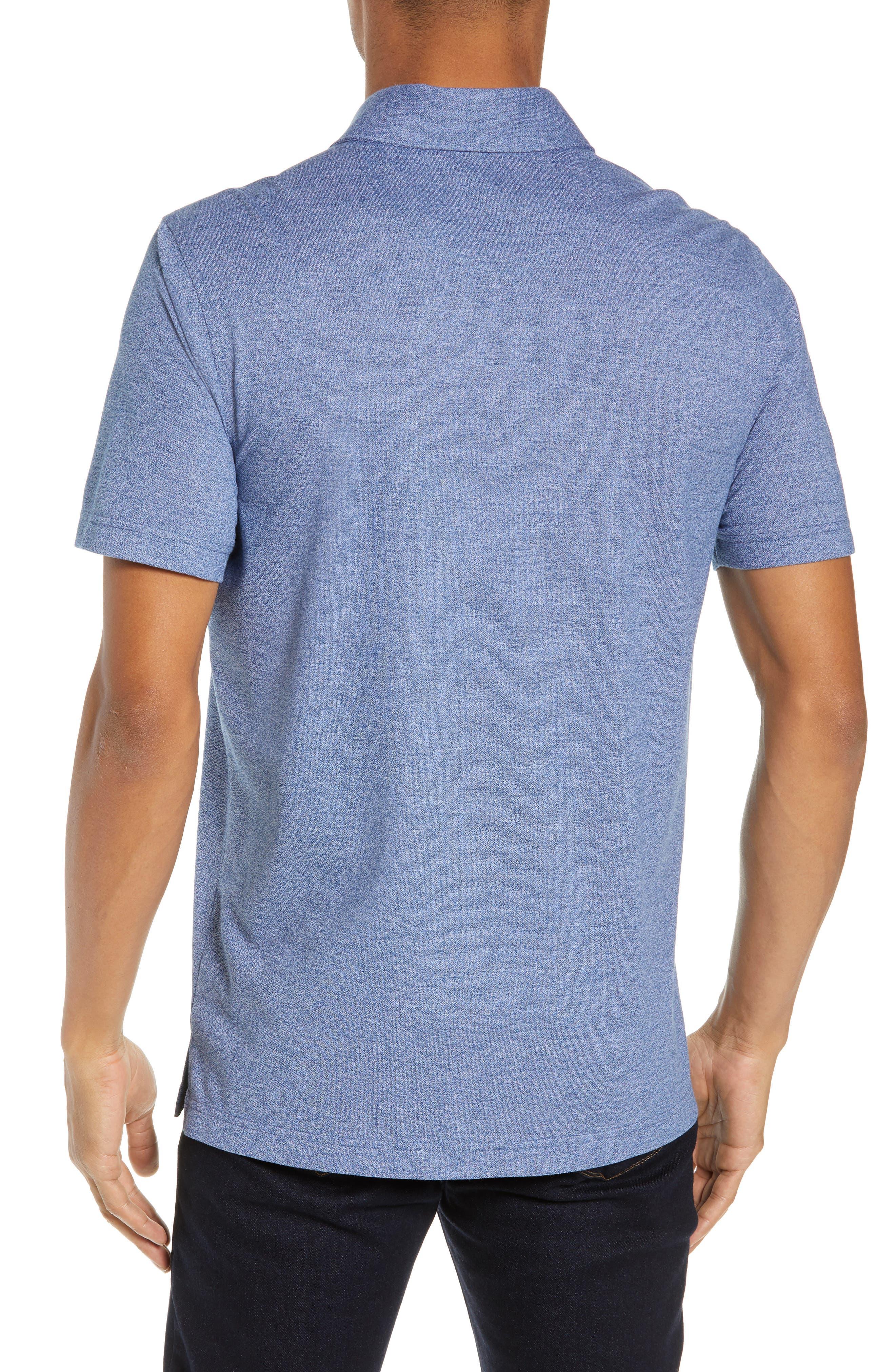 NORDSTROM MEN'S SHOP,                             Regular Fit Polo,                             Alternate thumbnail 2, color,                             BLUE CASPIA MELANGE