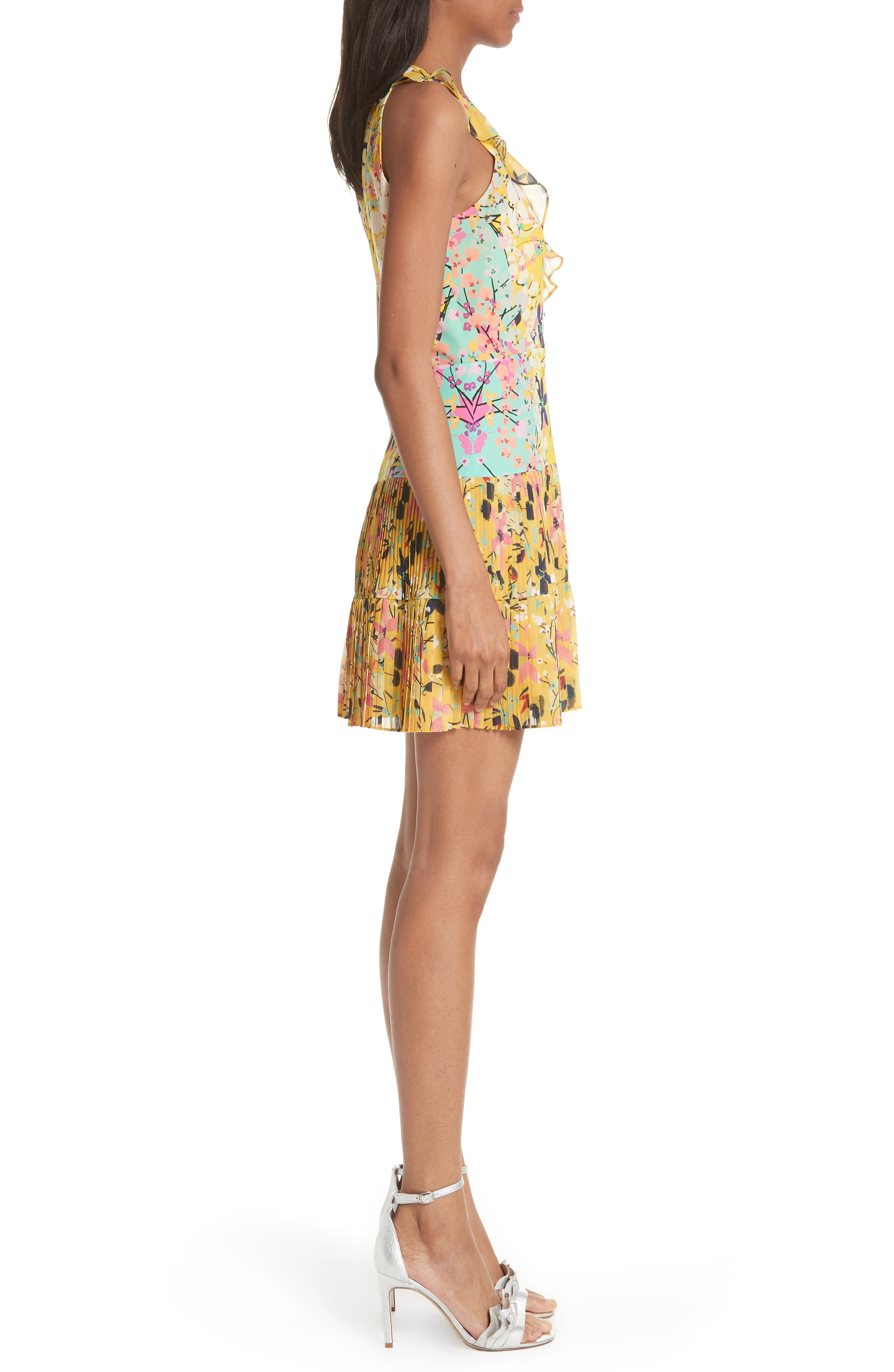 Amy Fit & Flare Dress,                             Alternate thumbnail 6, color,